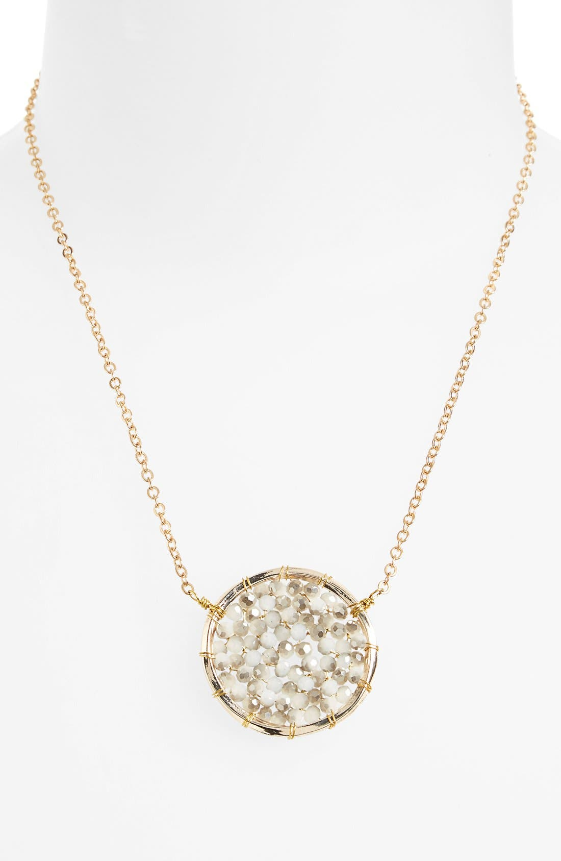 Main Image - Panacea Crystal Circle Pendant Necklace