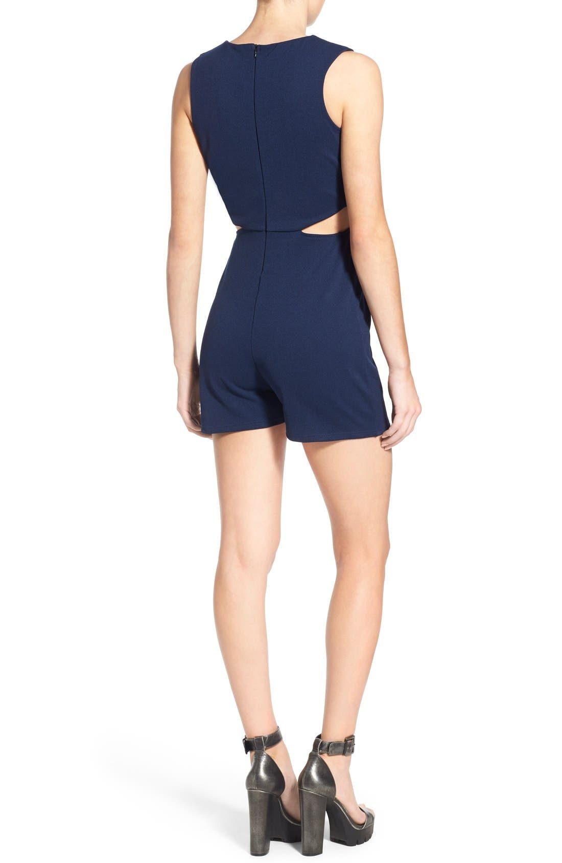Alternate Image 2  - Missguided Cutout Waist Romper