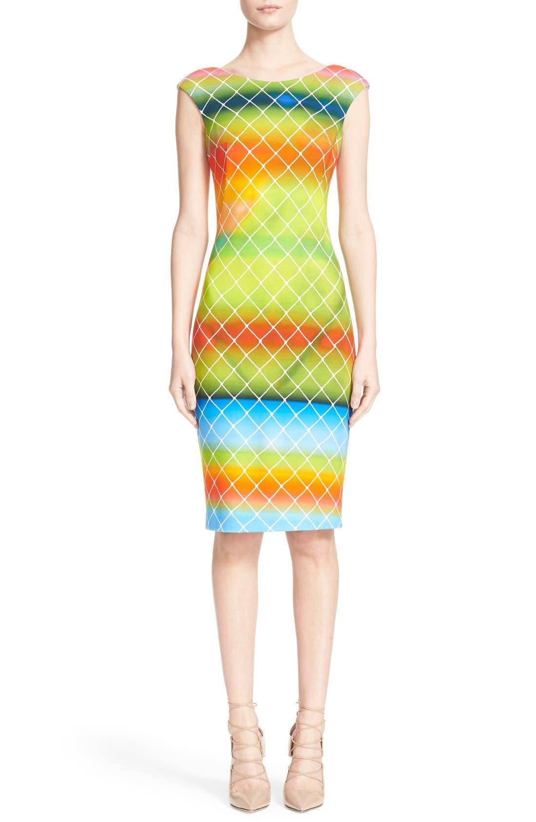 Alternate Image 1  - Akris punto 'Baseball Net' Dress