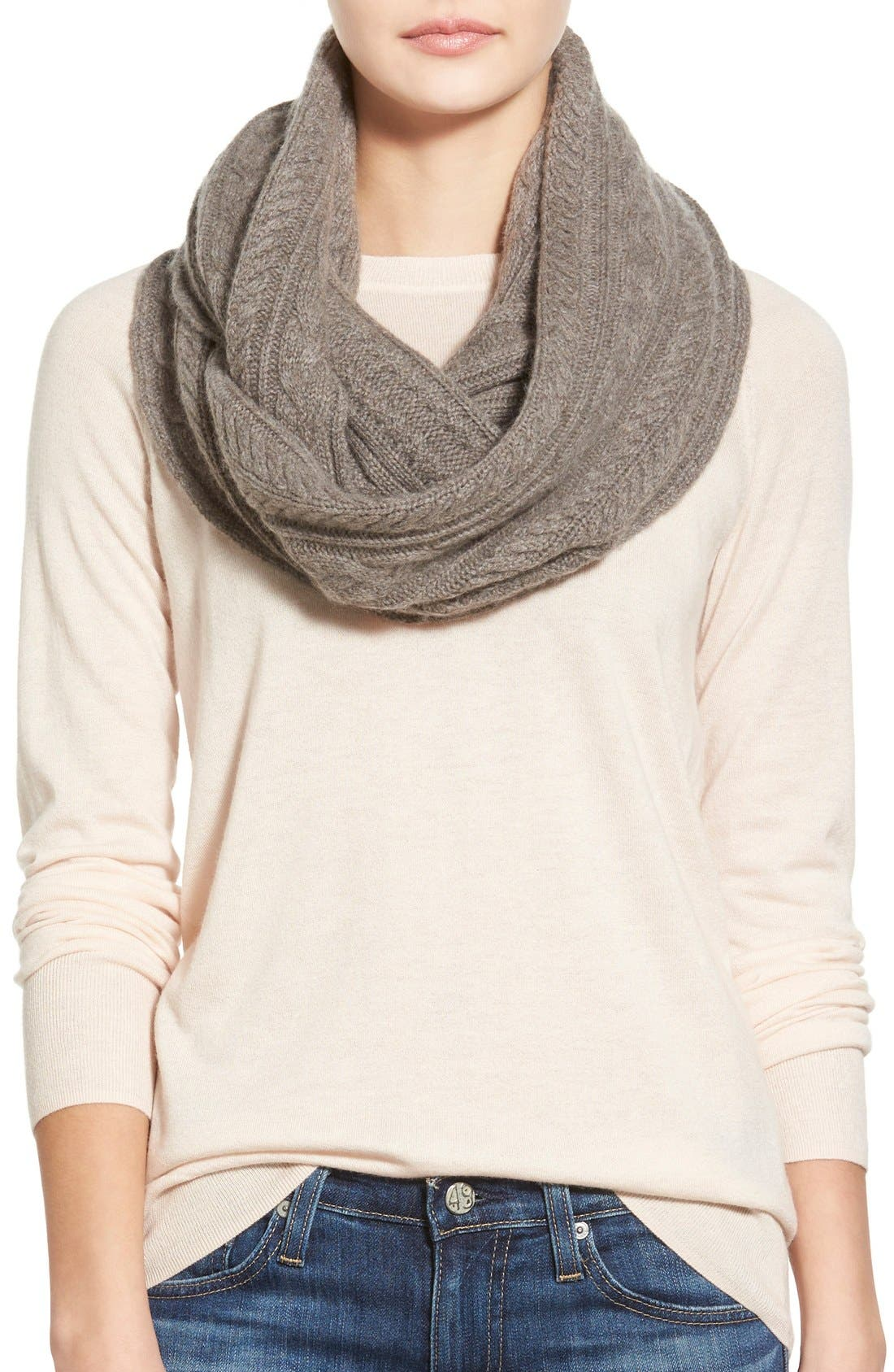 Alternate Image 1 Selected - James Perse Cashmere Infinity Scarf