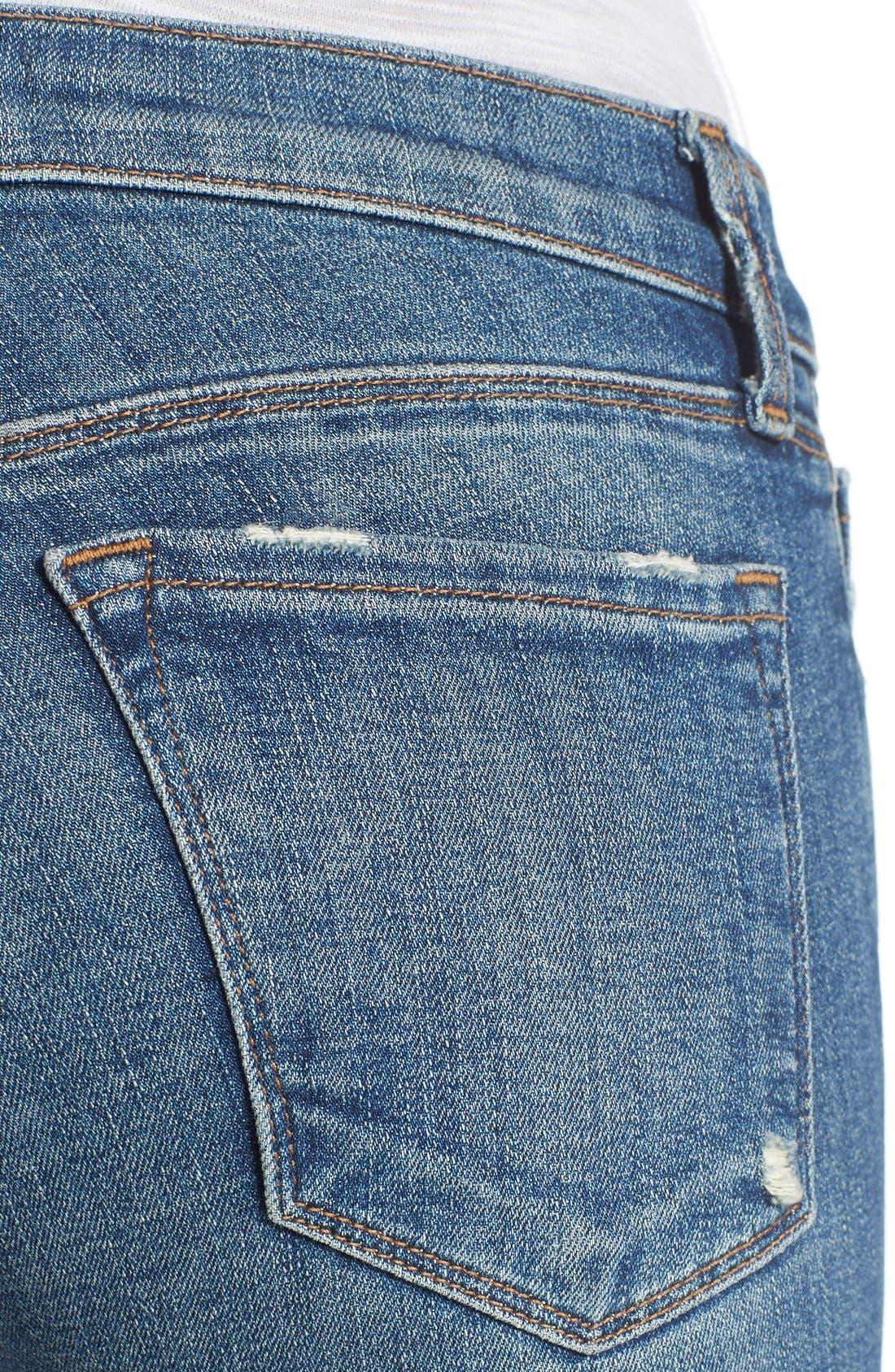 Alternate Image 4  - J Brand Destroyed Skinny Capri Jeans (Breathless)