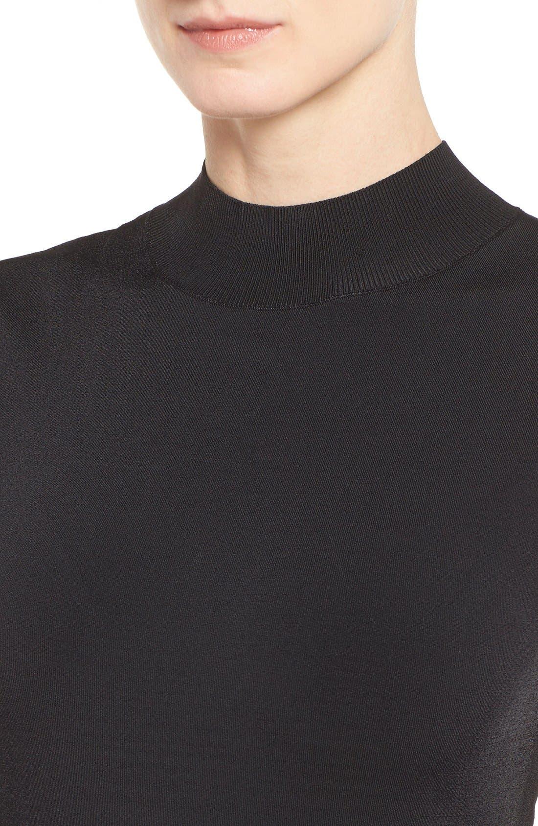 Alternate Image 4  - Halogen® Mock Neck A-Line Dress (Regular & Petite)