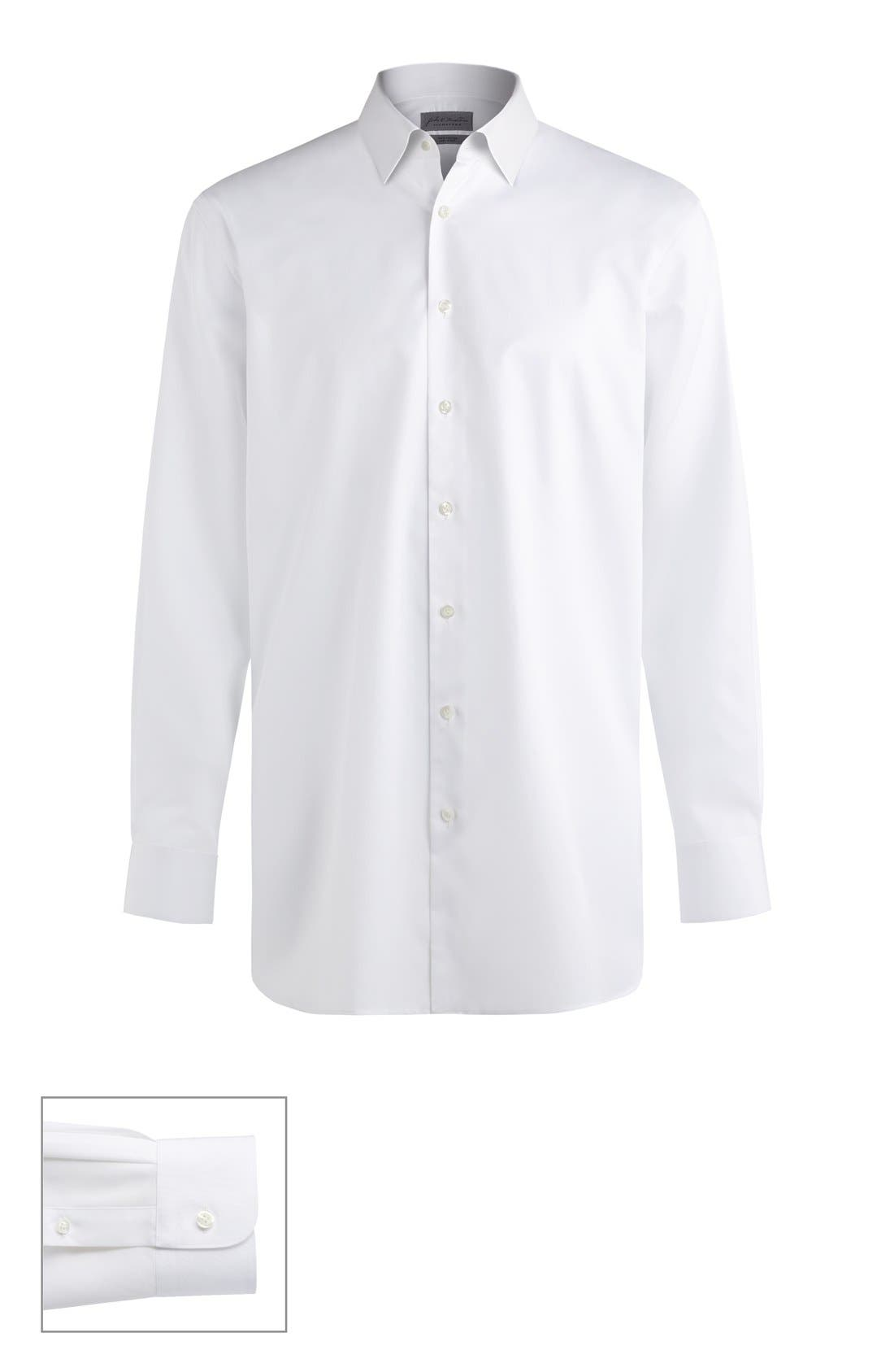 John W. Nordstrom® Made to Measure Traditional Fit Straight Collar Solid Dress Shirt