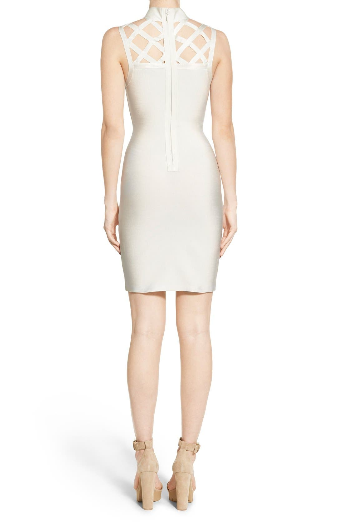 Alternate Image 2  - Missguided Grid Yoke Body-Con Dress