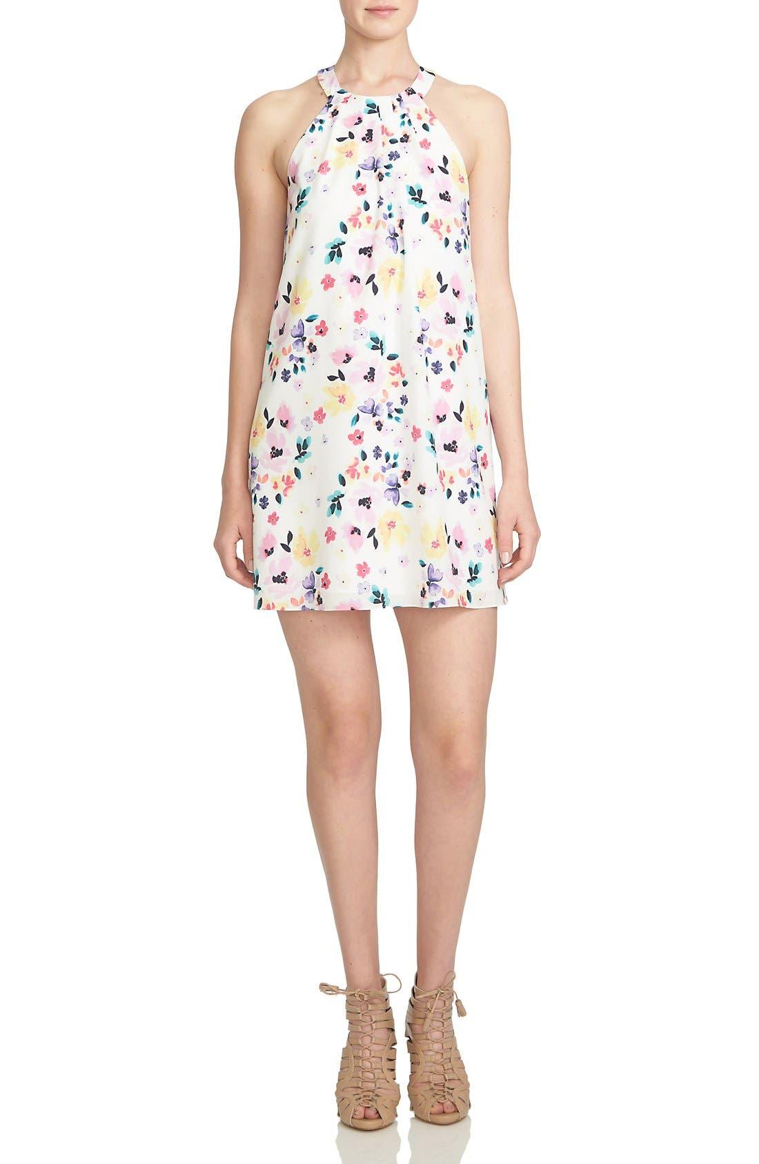 Main Image - CeCe by Cynthia Steffe 'Demure Floral' Print Sleeveless Shift Dress