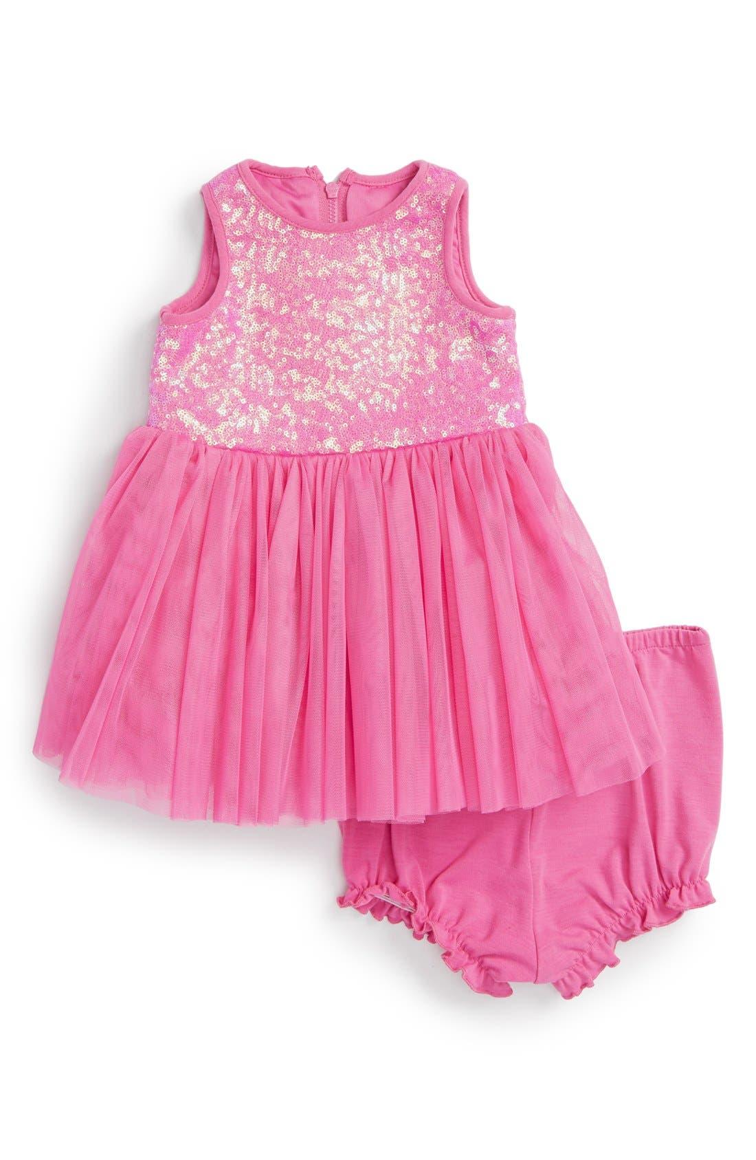 Pippa & Julie Birthday Sequin Dress Baby Girls