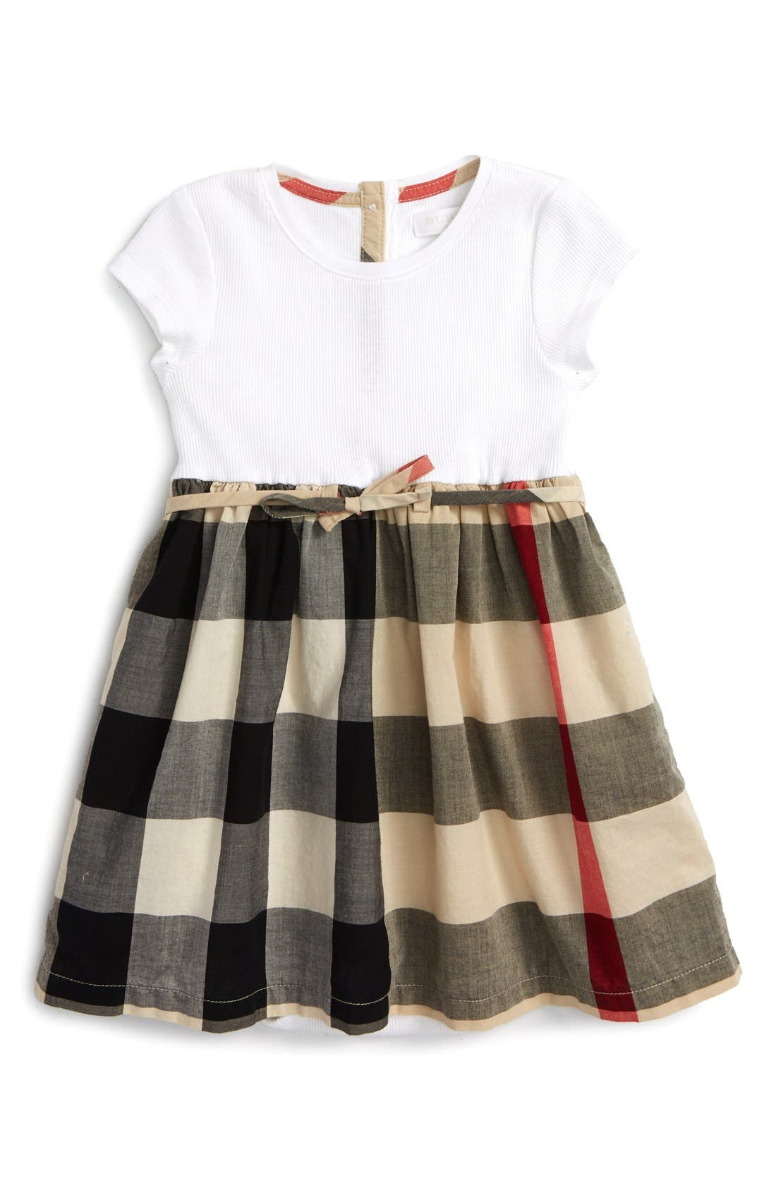 Burberry 'Mini Rosey' Check Cotton Dress (Baby Girls)