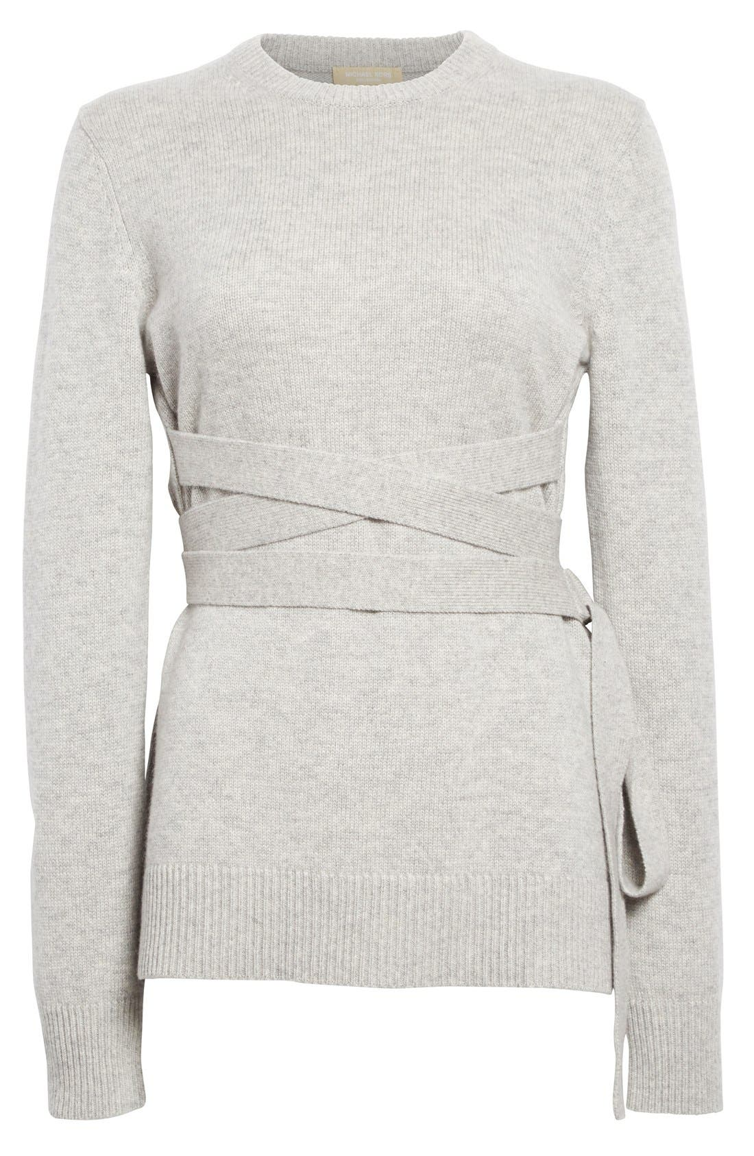 Alternate Image 5  - Michael Kors Wrap Belt Cashmere Sweater