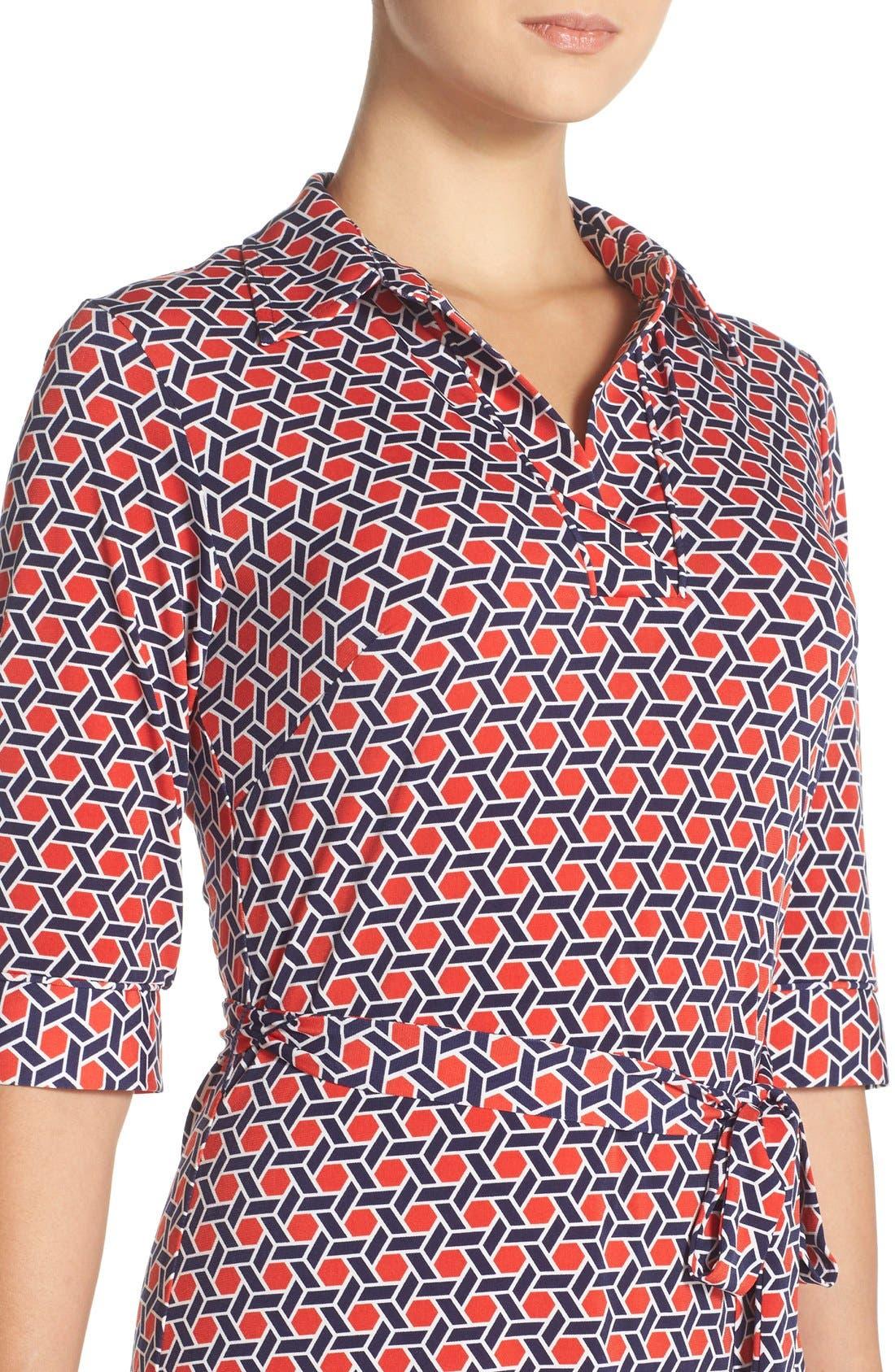 Alternate Image 4  - Laundry by Shelli Segal Print Jersey Shirtdress