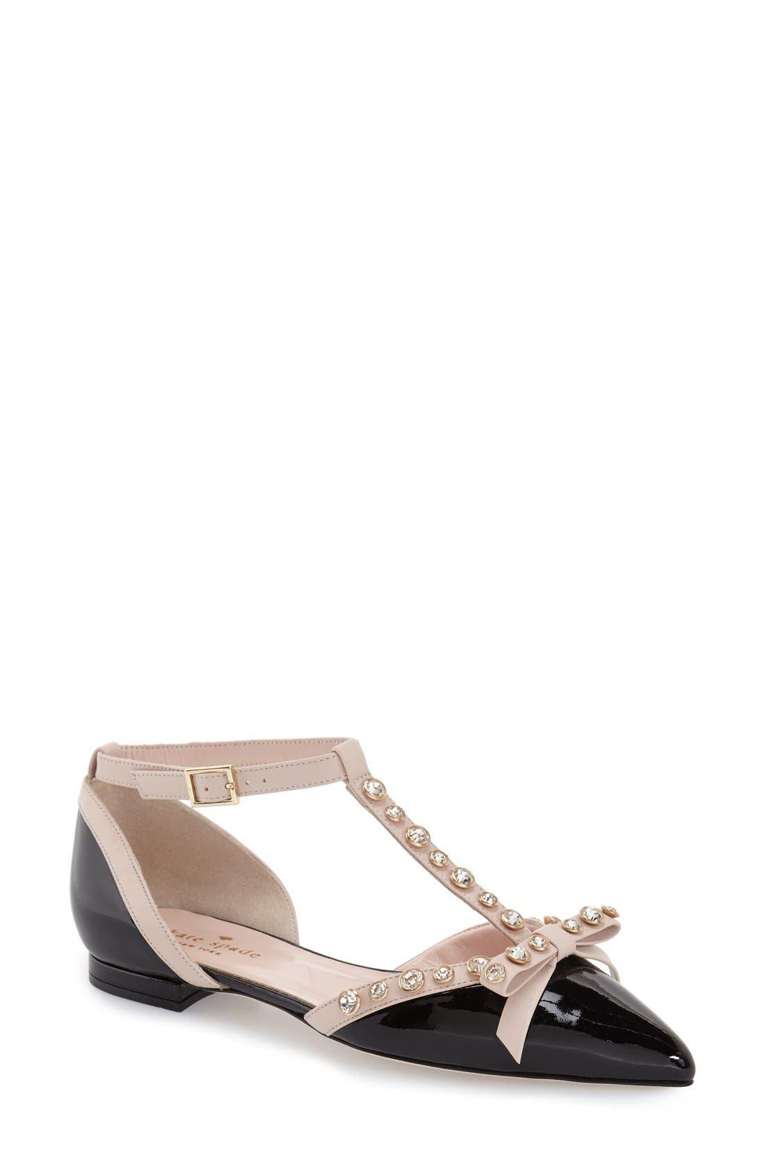 Alternate Image 1 Selected - kate spade new york 'becca' t-strap sandal (women)