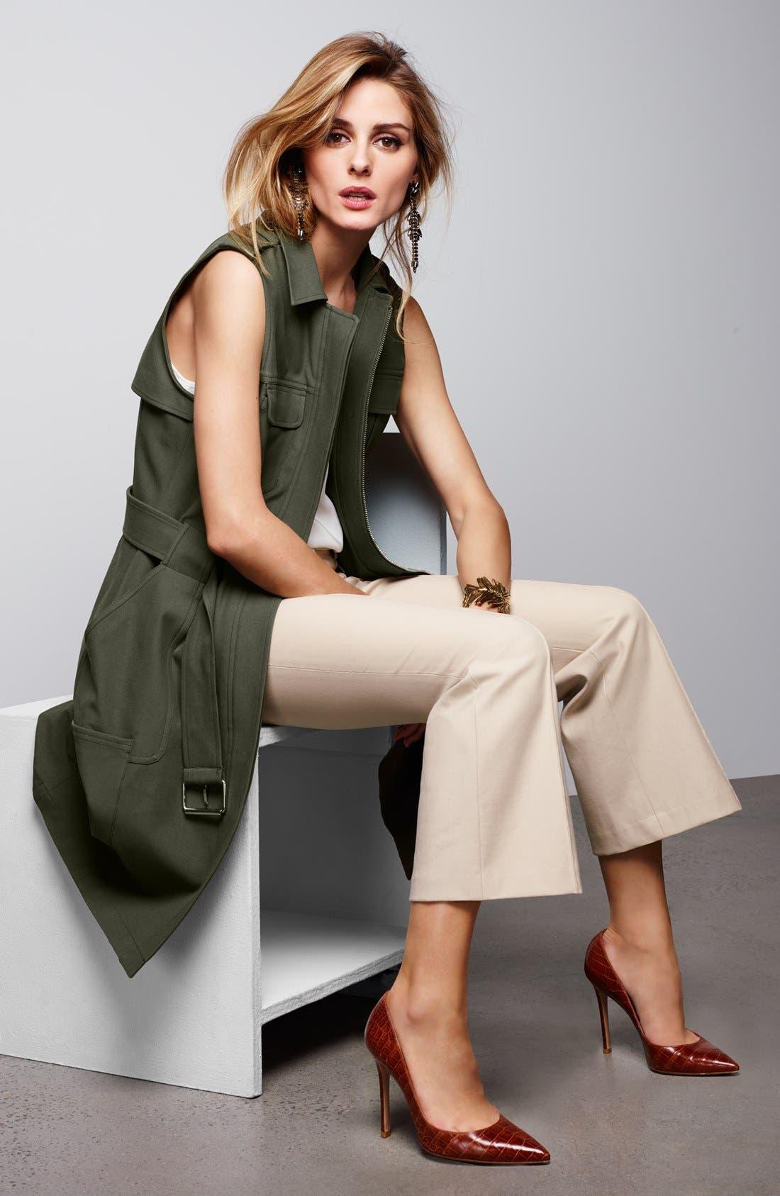 Alternate Image 2  - Olivia Palermo + Chelsea28 Long Military Vest