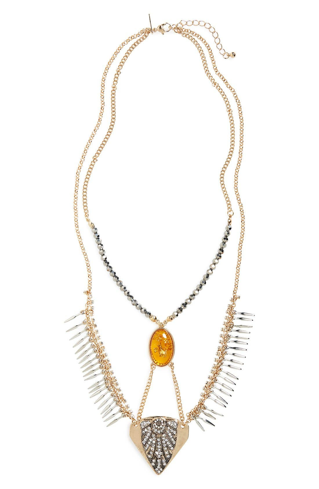 Alternate Image 1 Selected - Topshop Multi-Row Statement Necklace
