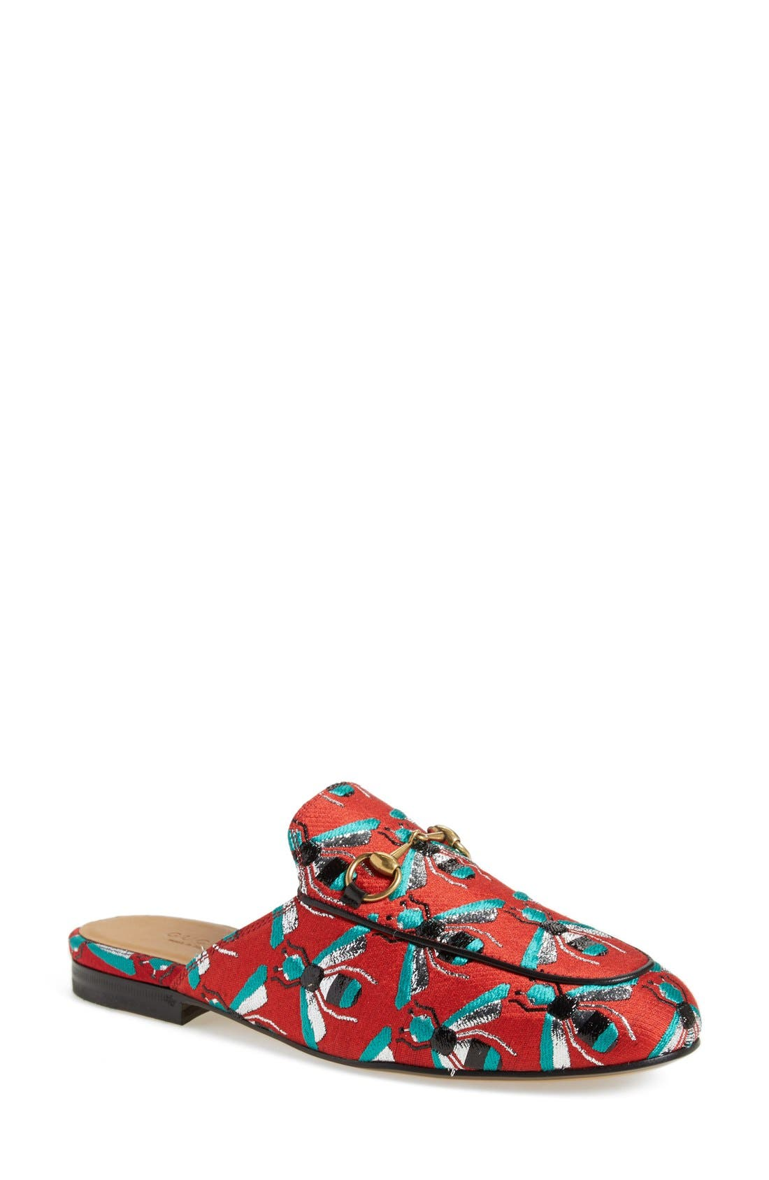 Alternate Image 1 Selected - Gucci 'Princetown' Print Mule Loafer (Women)