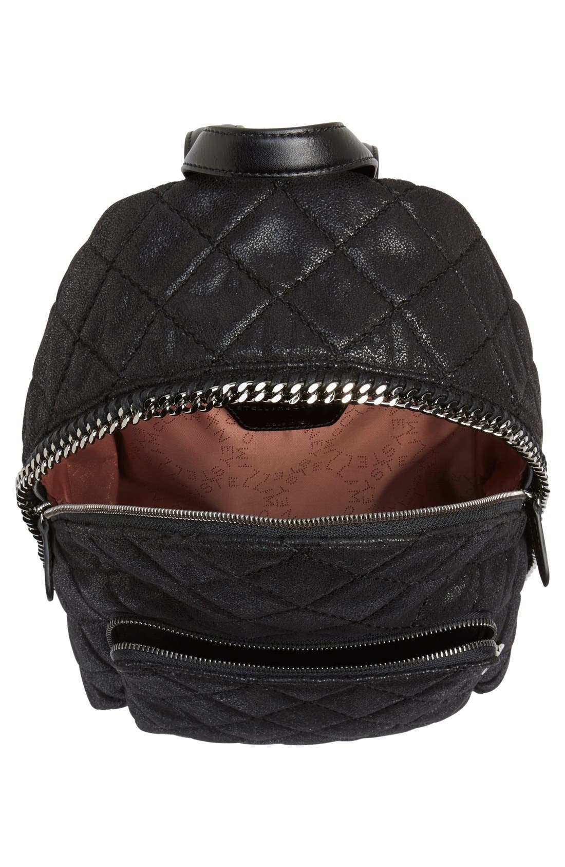 Alternate Image 4  - Stella McCartney 'Mini Falabella' Faux Leather Quilted Backpack