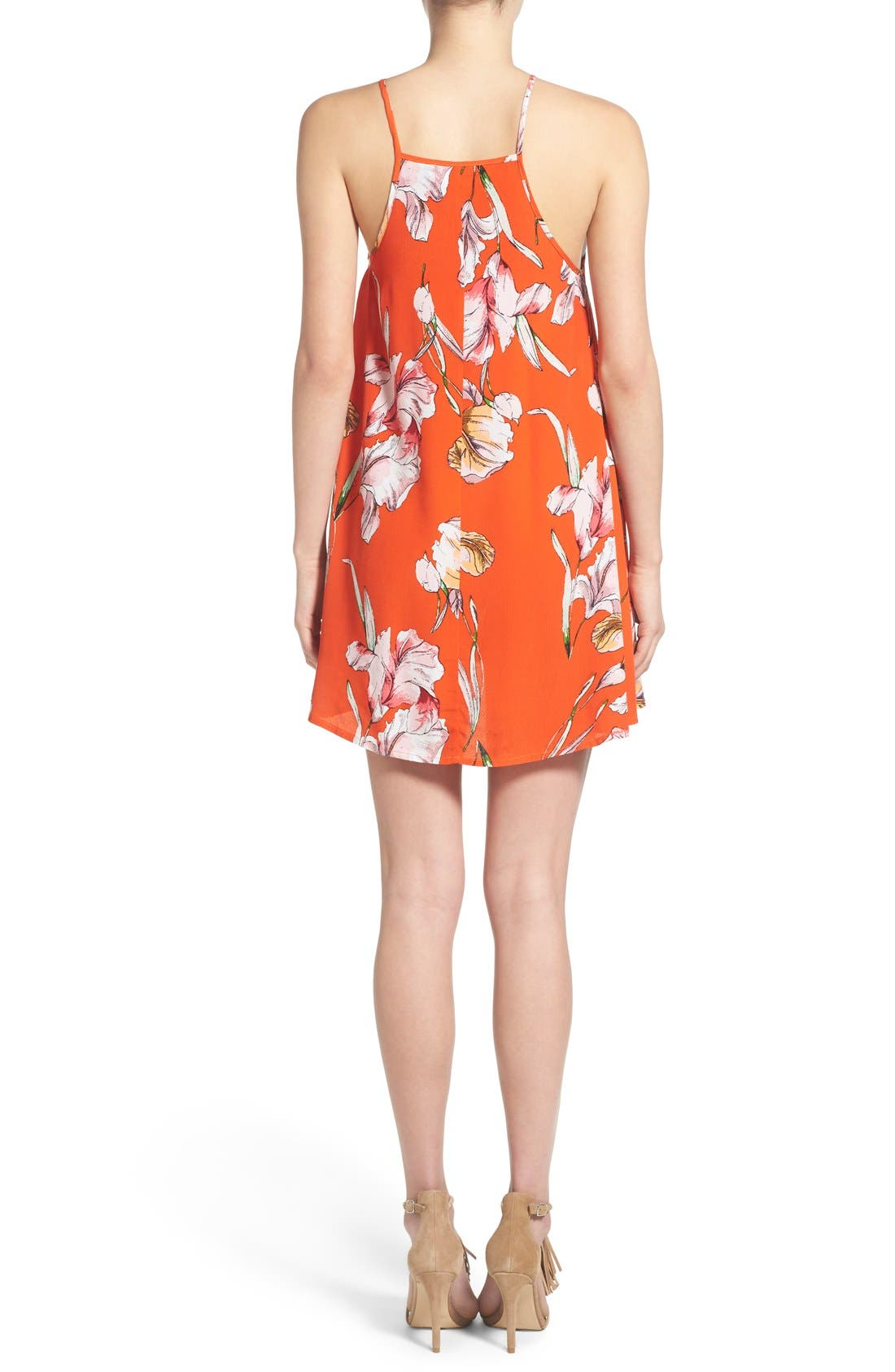 Alternate Image 2  - MINKPINK 'Tangerine Dream' Floral Print Swing Dress