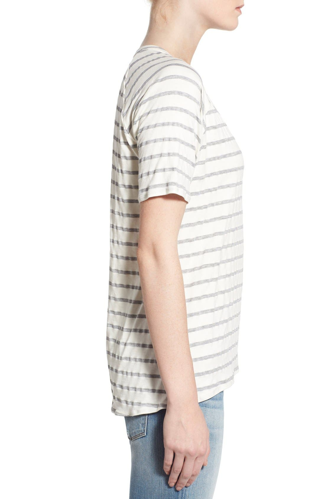 Alternate Image 3  - Chaser Relaxed Stripe High/Low Tee