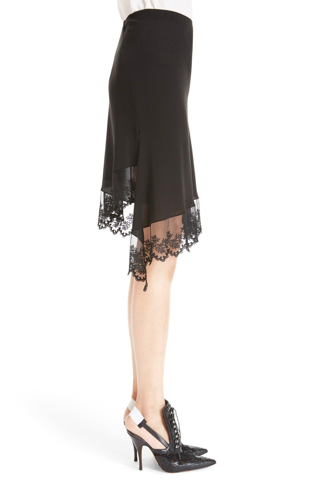 Alternate Image 4  - Givenchy Scalloped Lace & Silk Asymmetrical Skirt