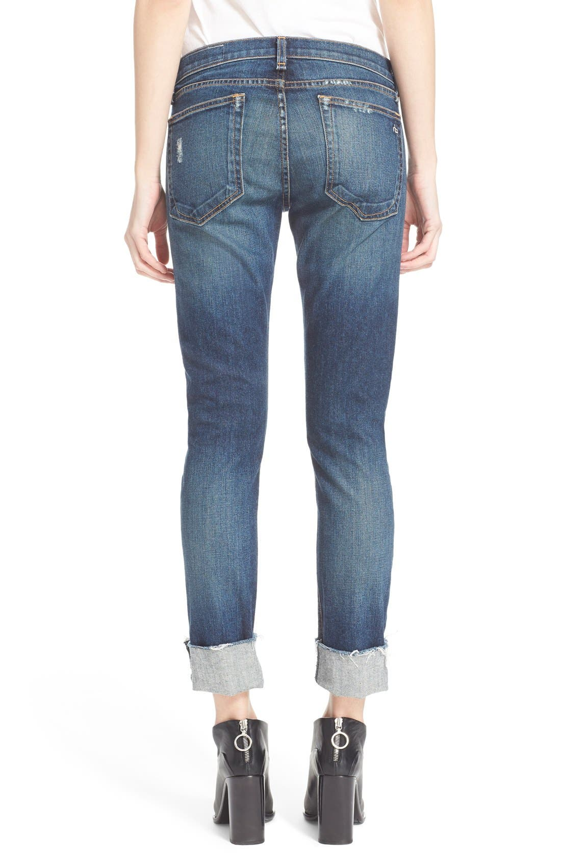 Alternate Image 3  - rag & bone/JEAN 'The Dre' Slim Fit Boyfriend Jeans (Mabel)