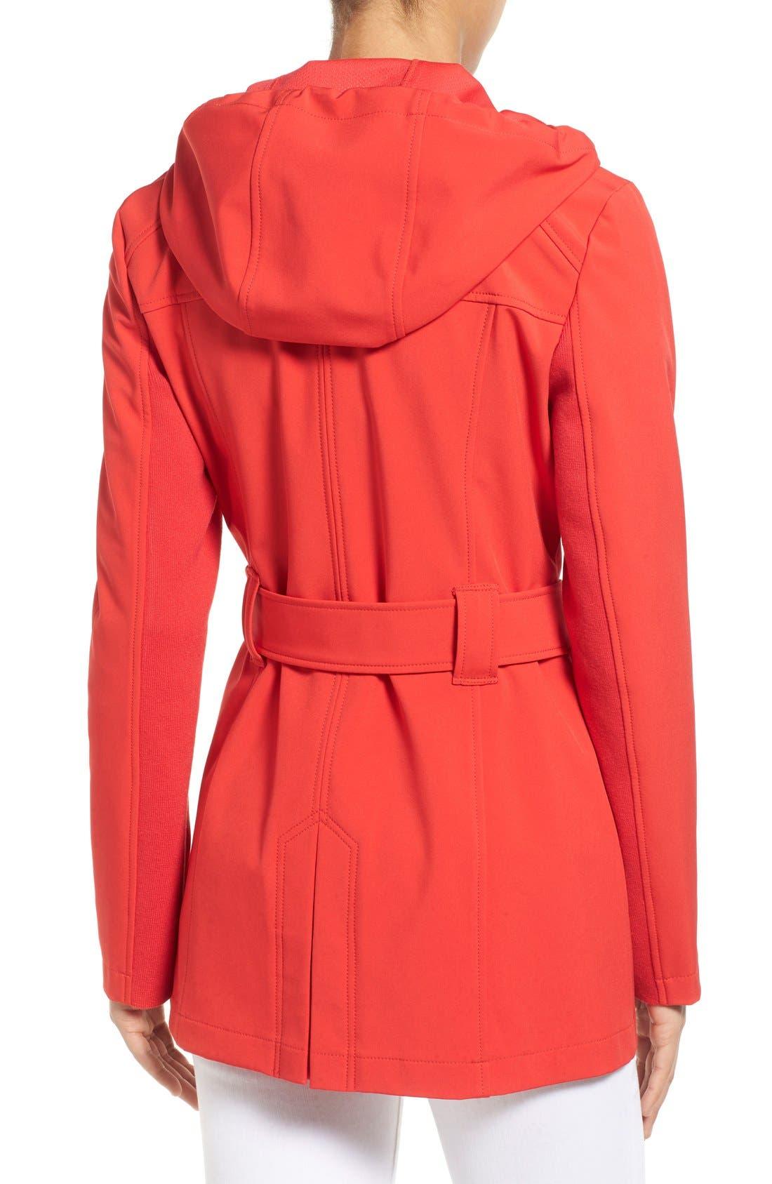 Alternate Image 2  - MICHAEL Michael Kors Asymmetrical Zip Belted Soft Shell Coat
