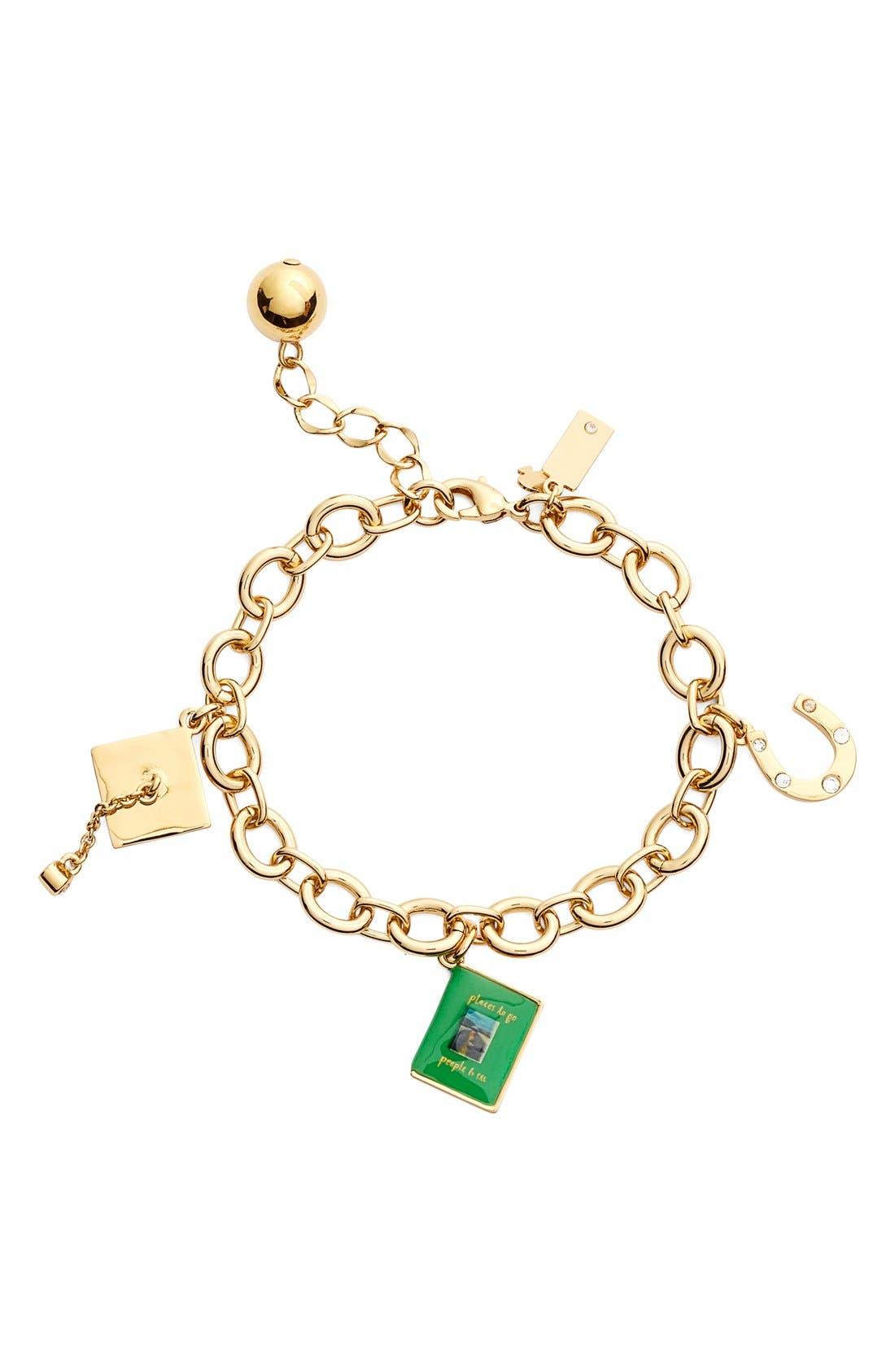 Alternate Image 1 Selected - kate spade new york 'how charming - graduation' bracelet