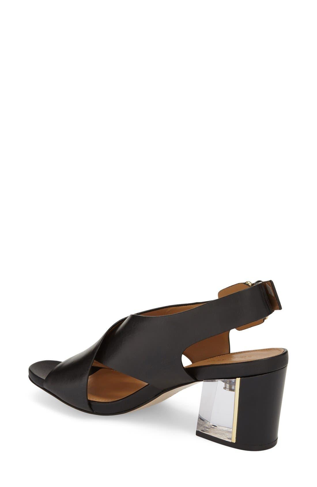 Alternate Image 2  - Calvin Klein 'Loni' Clear Block Heel Sandal (Women)