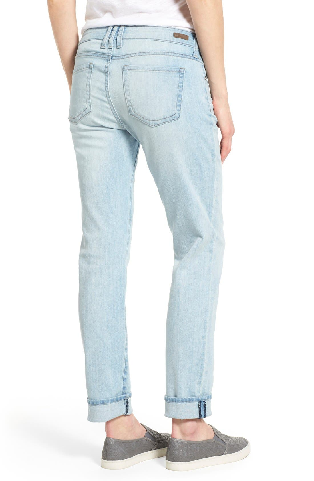 Alternate Image 2  - KUT from the Kloth 'Catherine' Stretch Slim Boyfriend Jeans (Artistic)