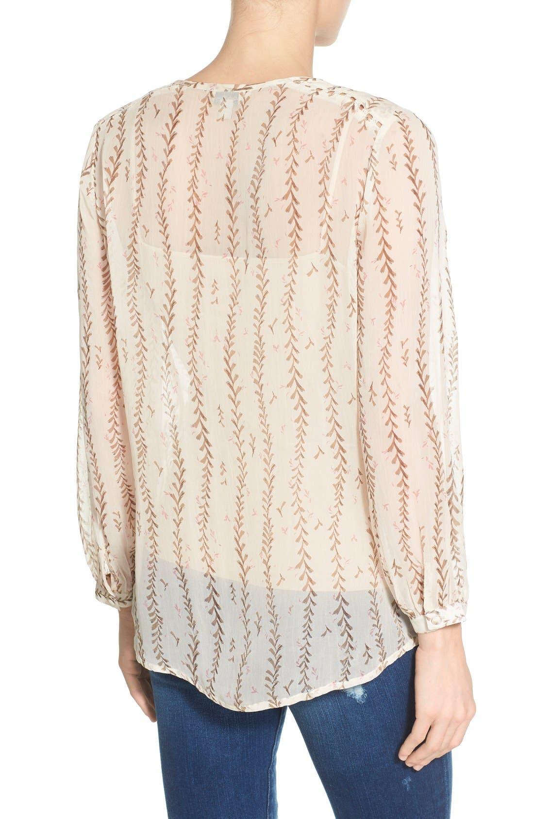 Alternate Image 2  - Lucky Brand Lace Inset Vine Print Blouse