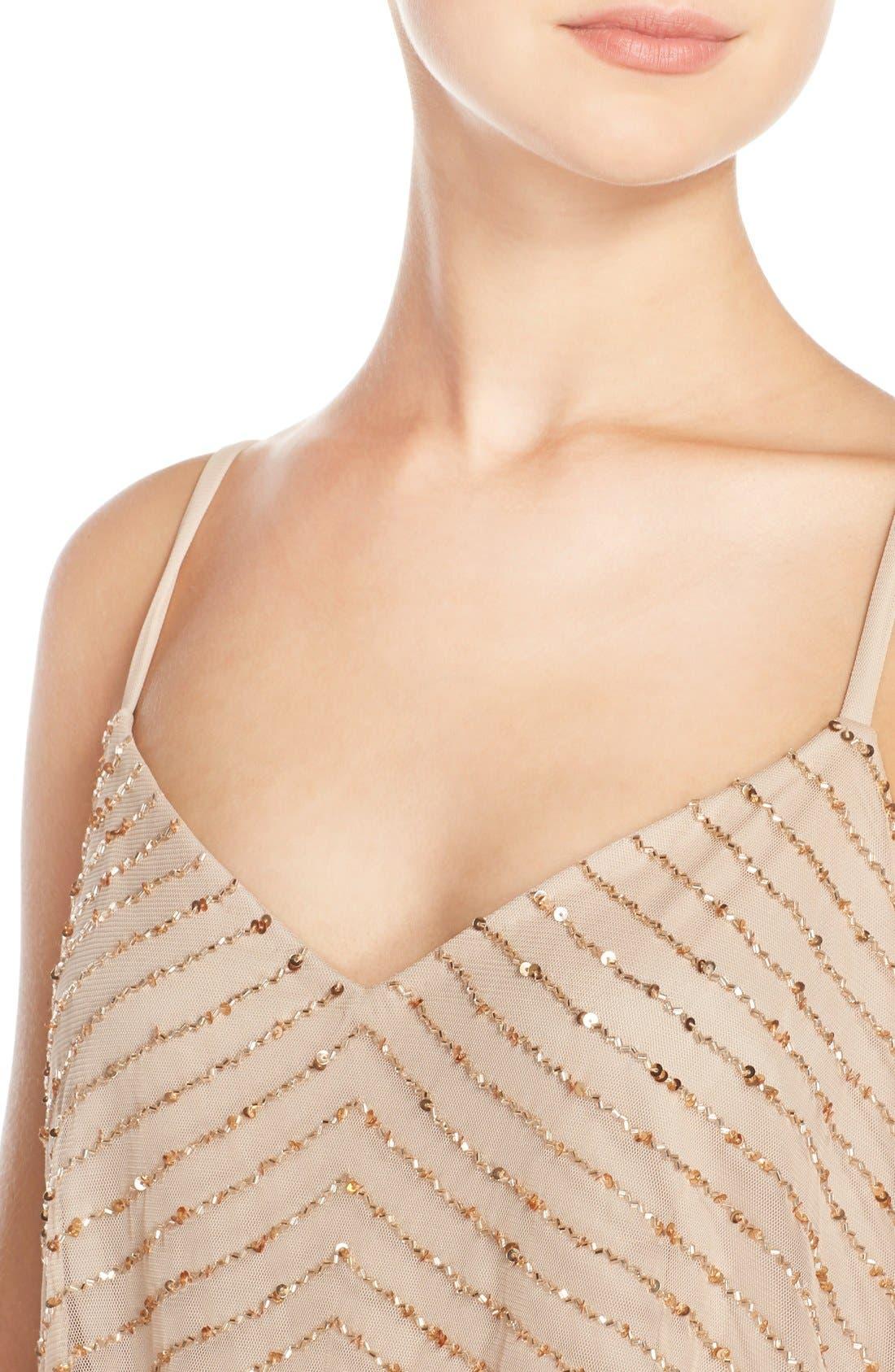 Alternate Image 6  - Adrianna Papell Sequin Mesh Blouson Dress