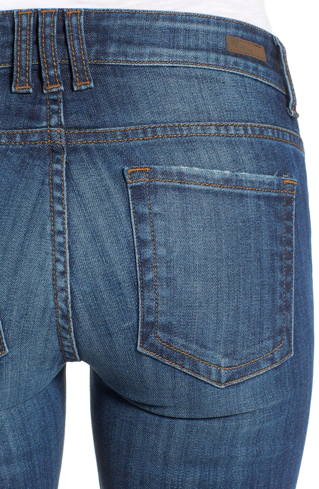 Alternate Image 4  - KUT from the Kloth 'Catherine' Distressed Stretch Boyfriend Jeans (Yearn) (Regular & Petite)