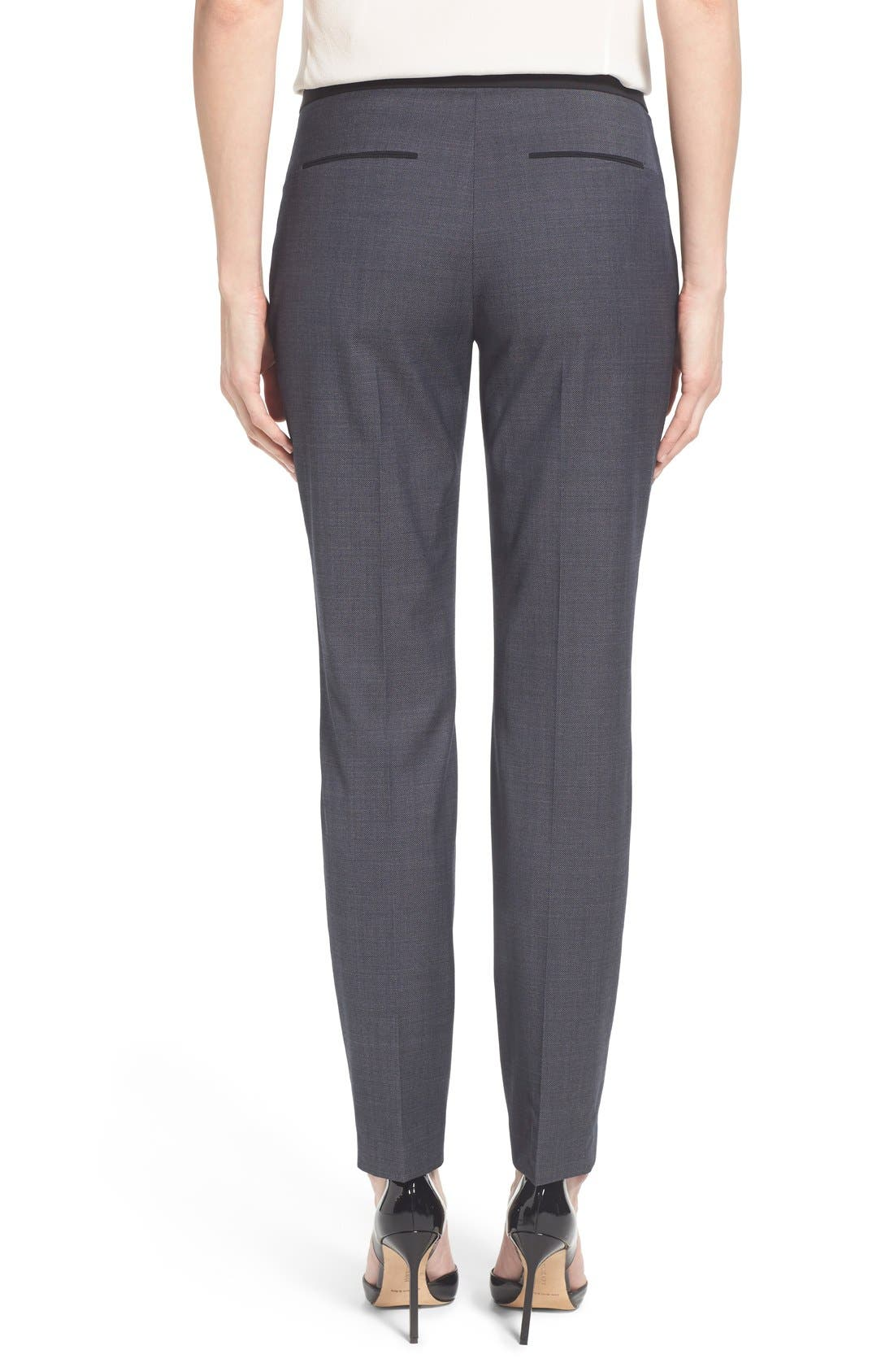 Alternate Image 3  - Elie Tahari 'Jillian' Slim Fit Stretch Woven Pants