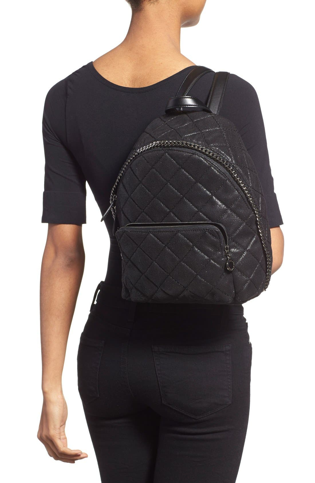 Alternate Image 2  - Stella McCartney 'Mini Falabella' Faux Leather Quilted Backpack