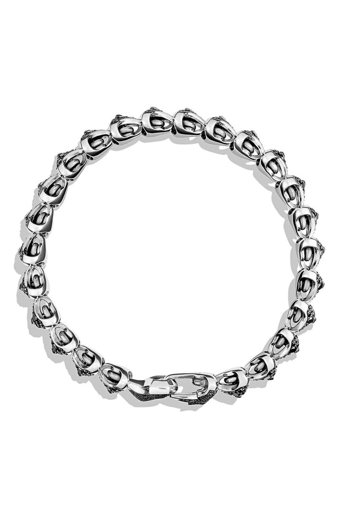 Alternate Image 2  - David Yurman 'Armory' Single Row Link Bracelet with Black Diamonds