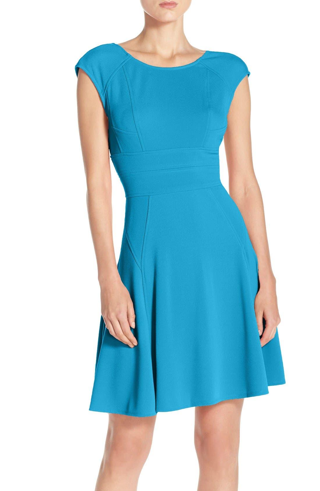 JULIA JORDAN Cap Sleeve Fit & Flare Dress