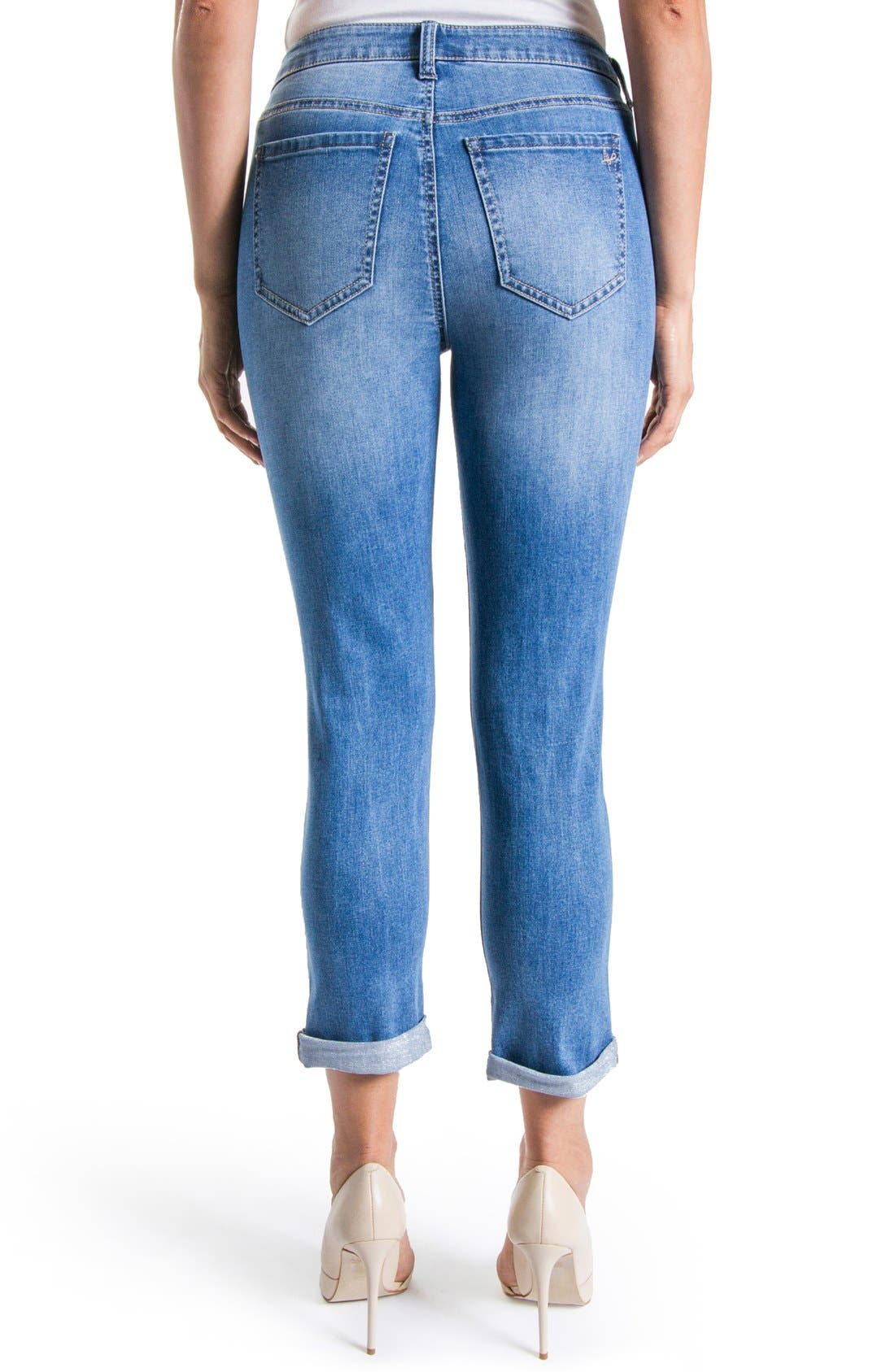 Alternate Image 2  - Liverpool Jeans Company 'Corey' Distressed Crop Boyfriend Jeans (Melbourne)