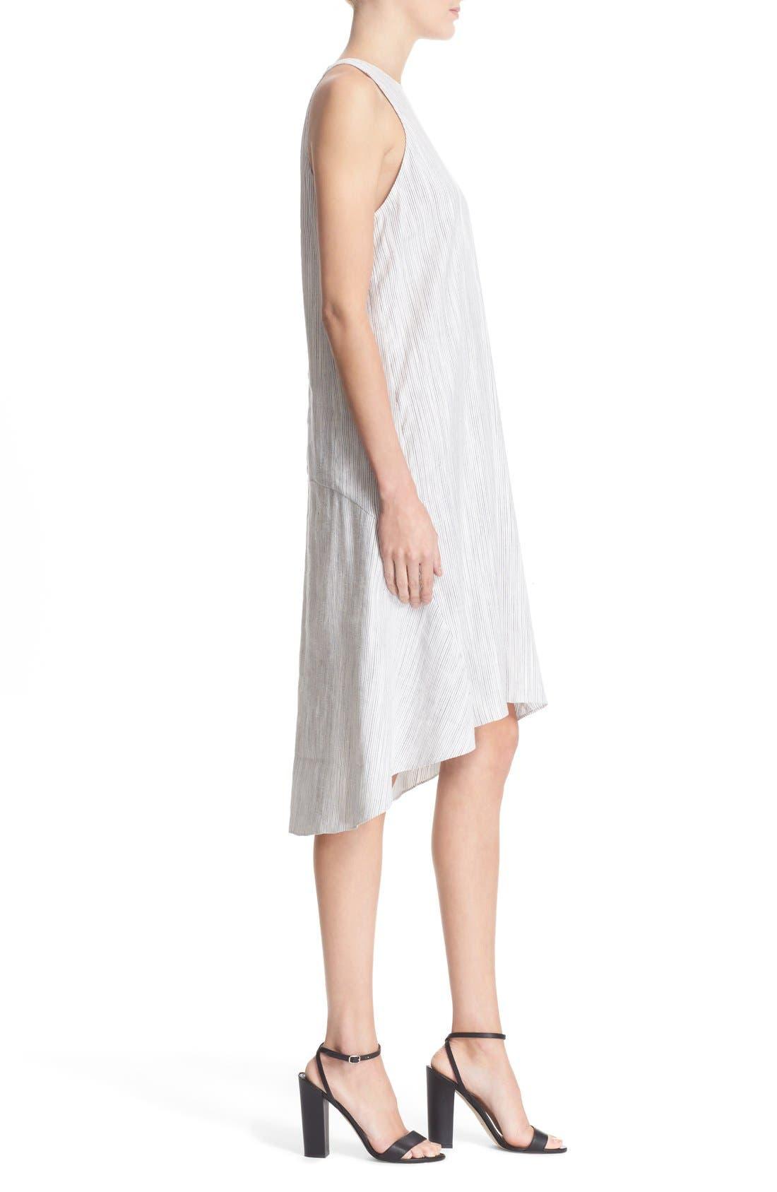 Alternate Image 3  - Theory 'Adlerdale' Stripe Sleeveless Linen Blend Dress