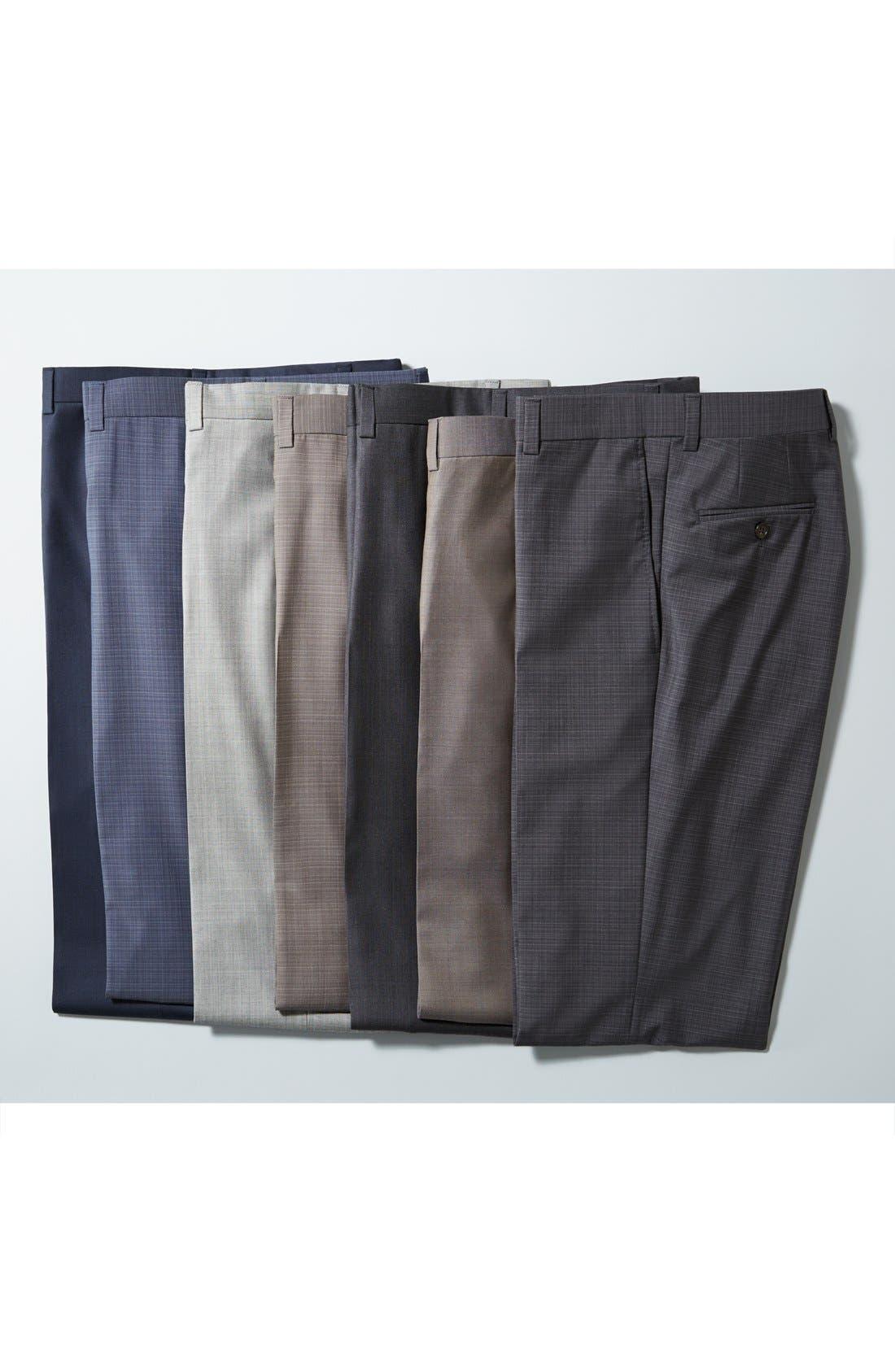 Alternate Image 6  - Ted Baker London Jefferson Flat Front Wool Trousers