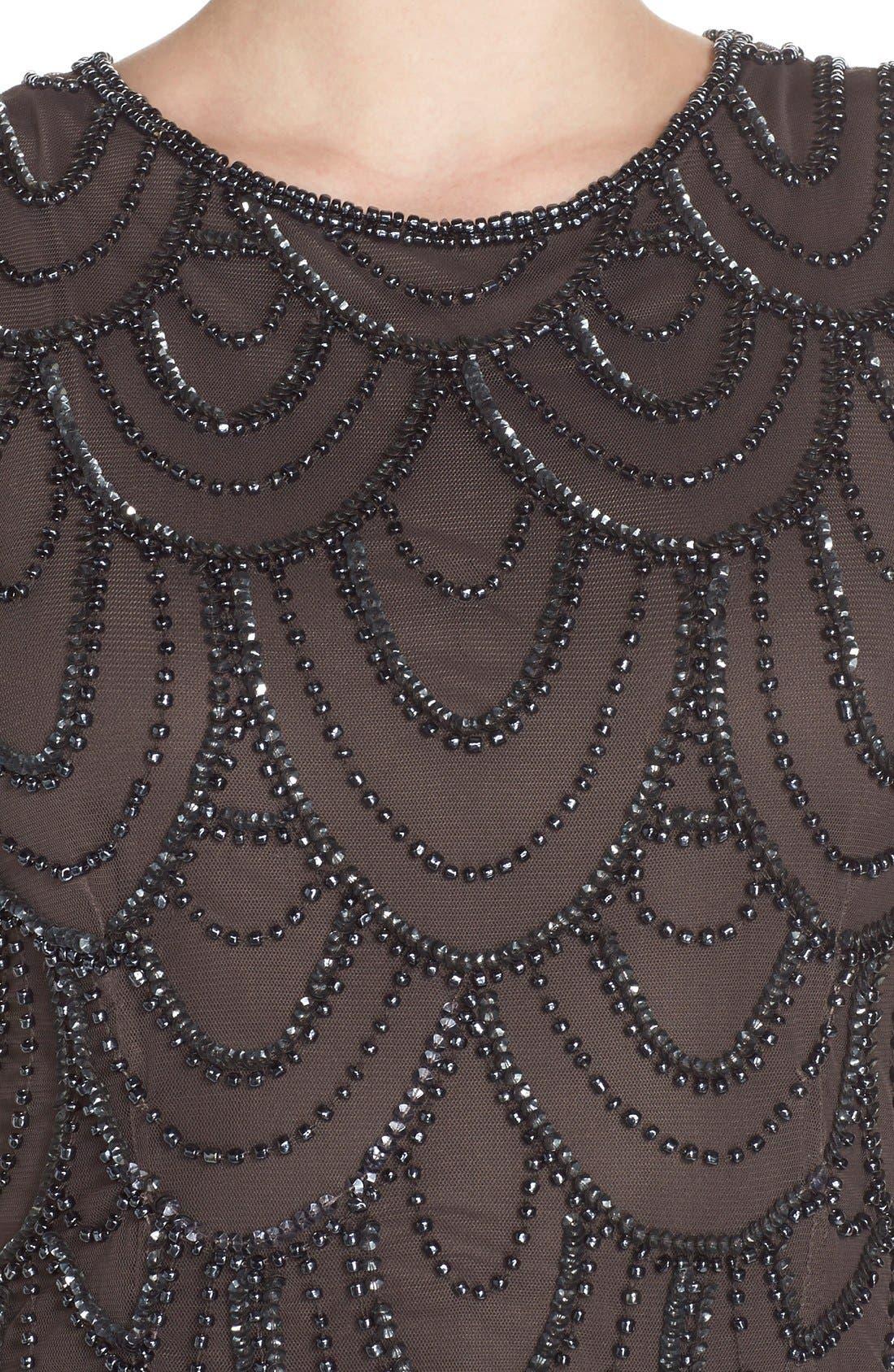 Alternate Image 4  - Pisarro Nights Beaded Mesh Gown (Regular & Petite)