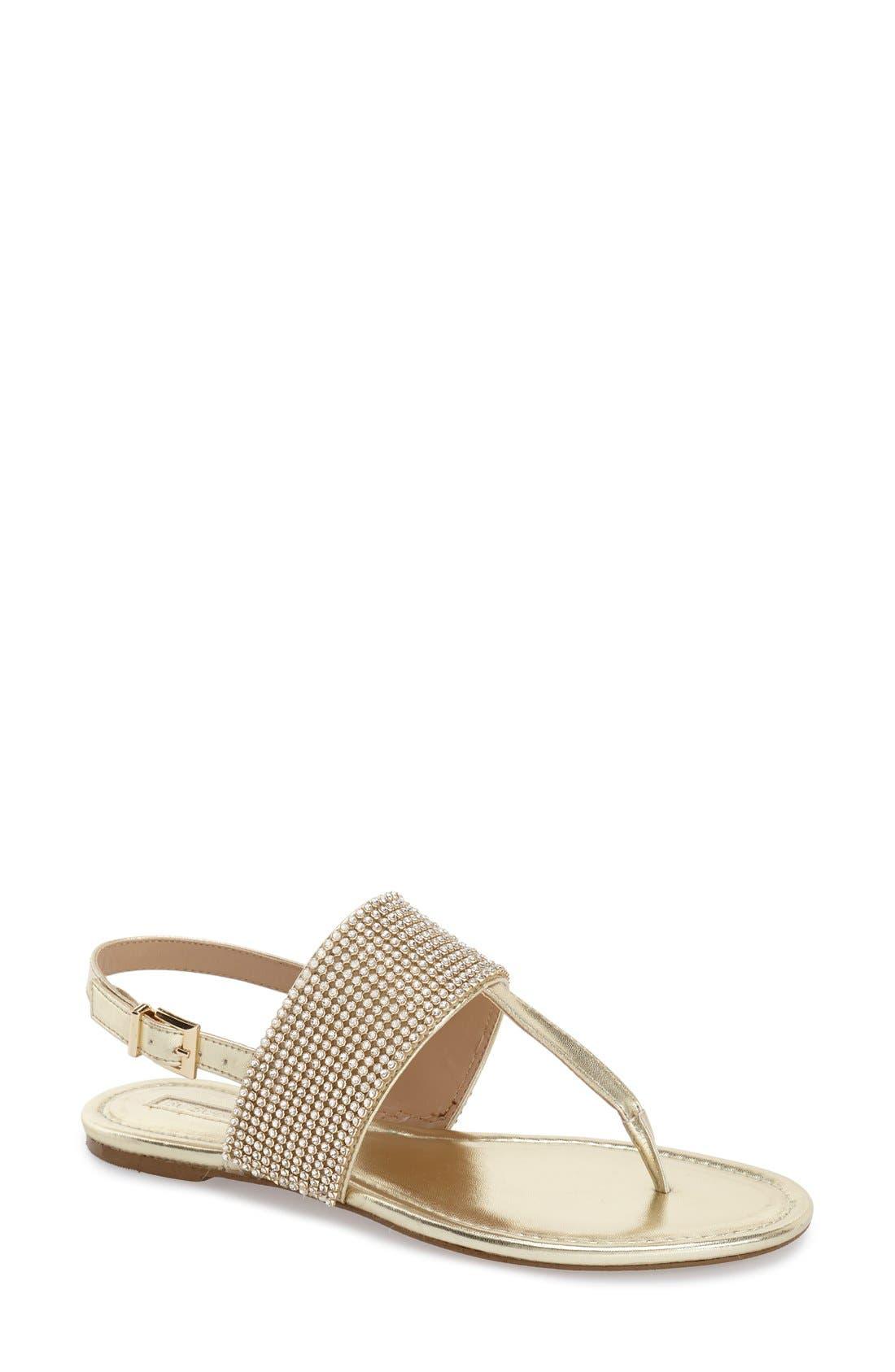 Main Image - BCBGeneration 'Wander' Embellished Flat Sandal (Women)
