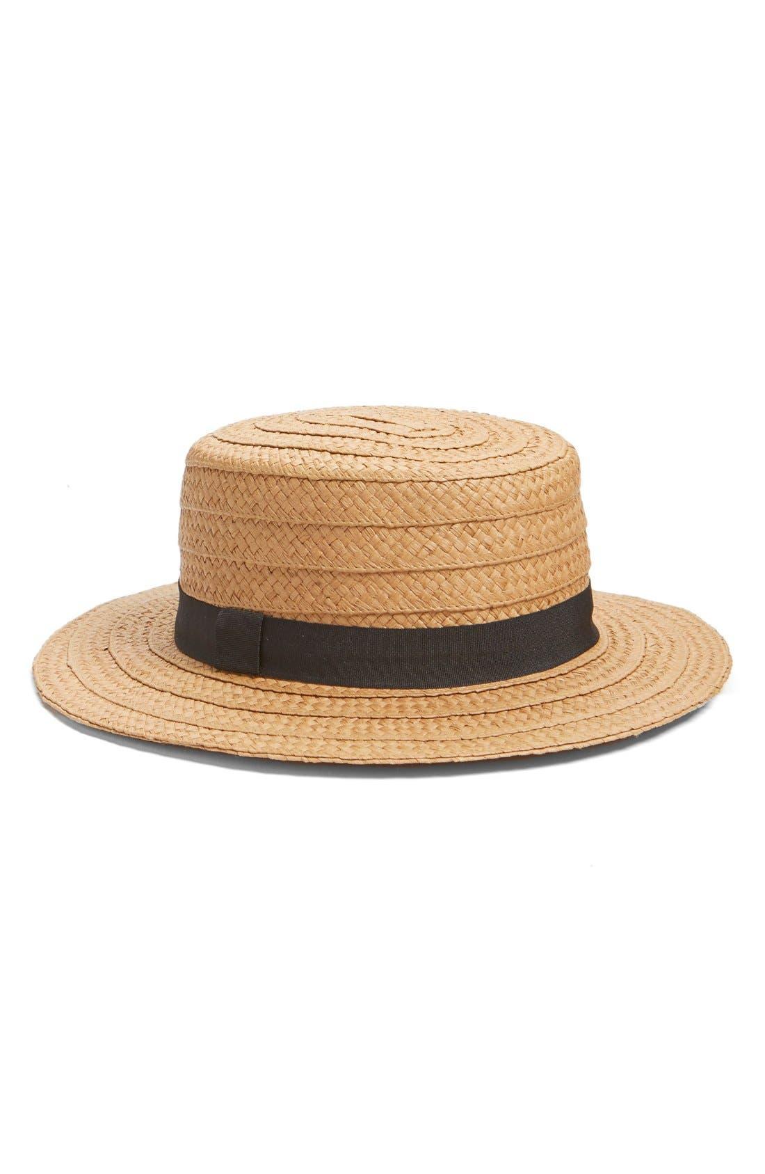 Alternate Image 1 Selected - Hinge Straw Boater Hat