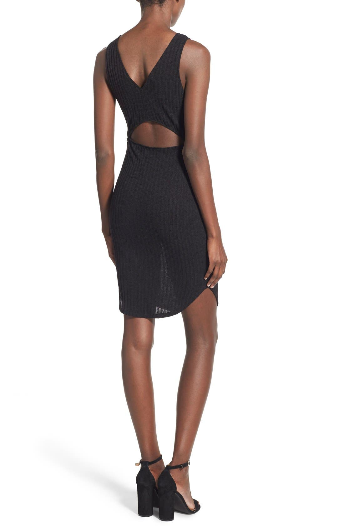 Alternate Image 2  - Lush Ribbed Body-Con Dress