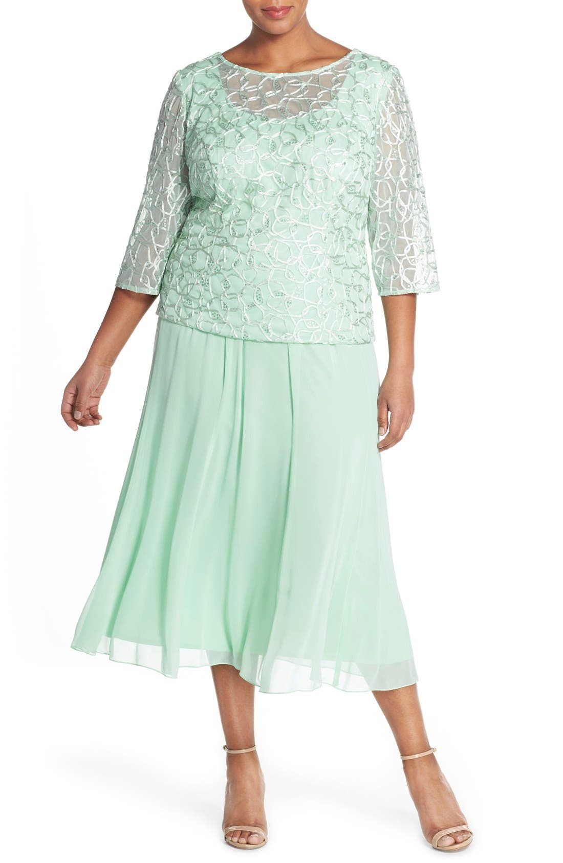 Alternate Image 3  - Alex Evenings Chiffon Skirt (Plus Size)