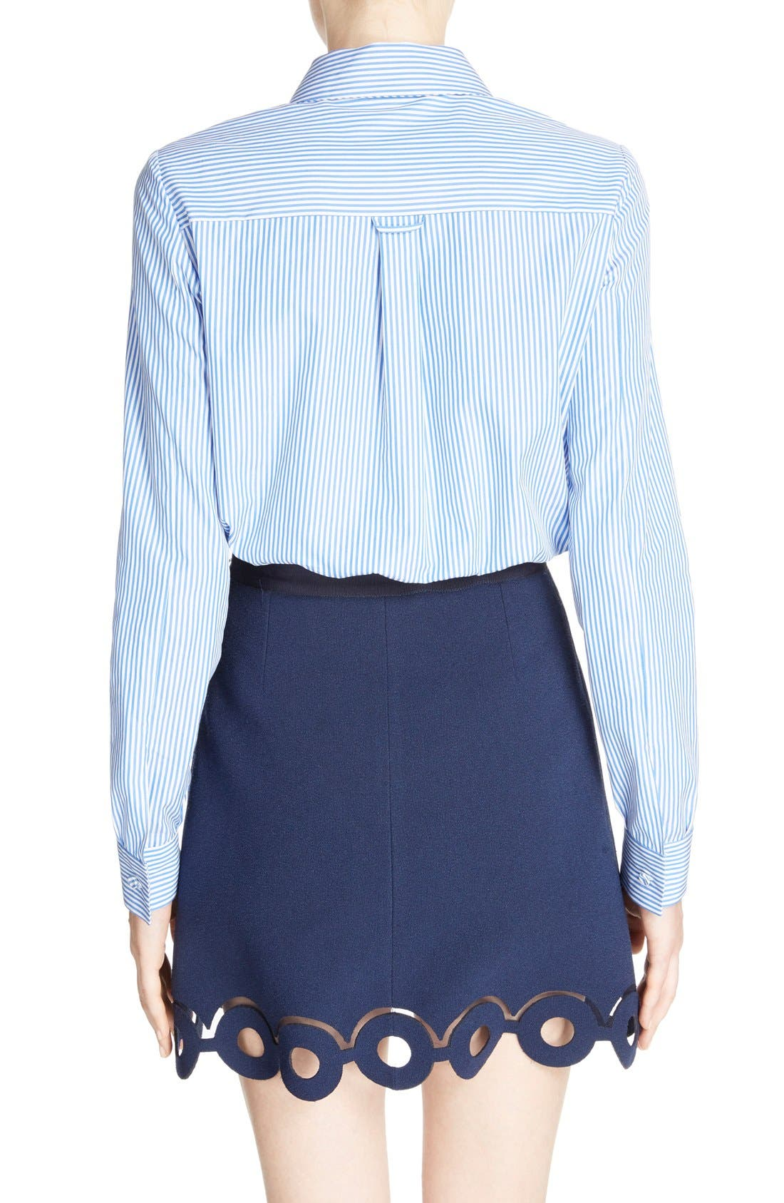 Alternate Image 2  - Carven Stripe Poplin Blouse