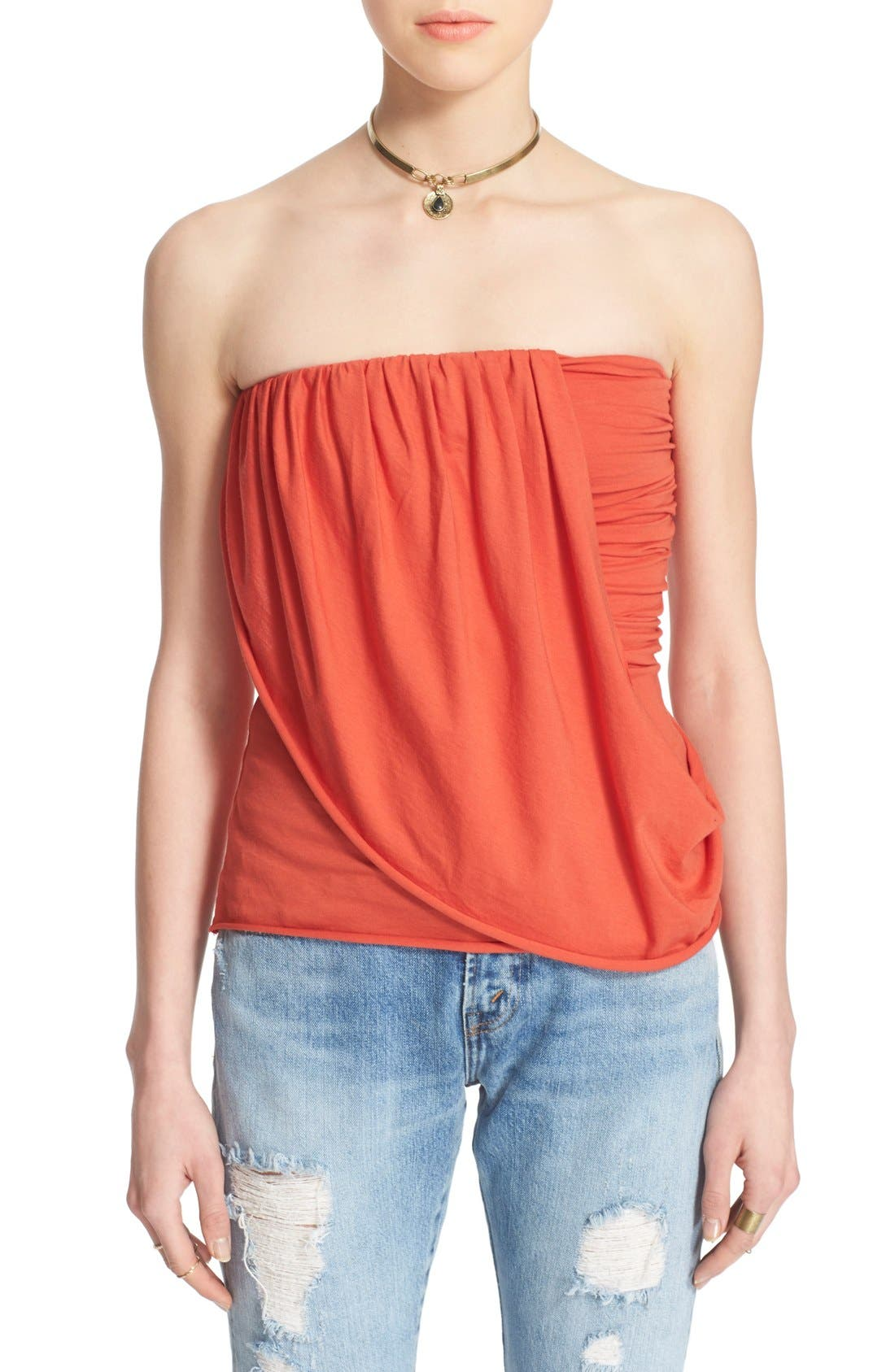 Alternate Image 1 Selected - Free People 'Anas' Draped Jersey Tube Top