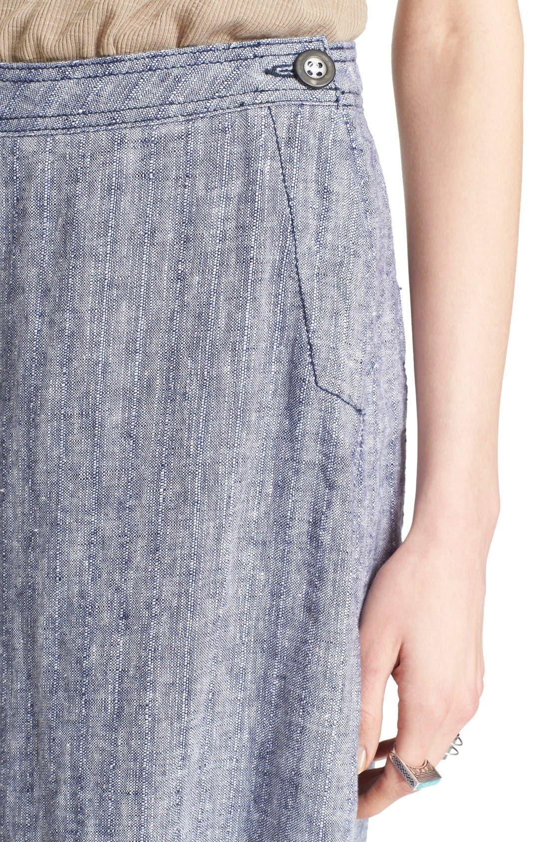 Alternate Image 5  - Free People 'Sani' Linen Culottes