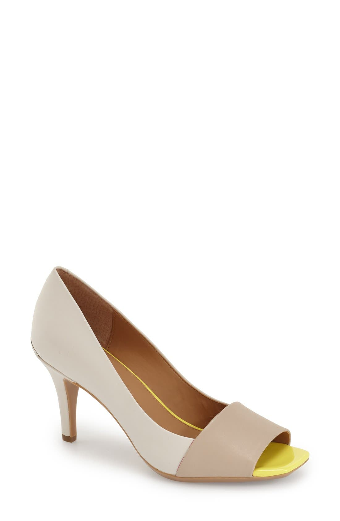Alternate Image 1 Selected - Calvin Klein 'Nareen' Square Open Toe Pump (Women)