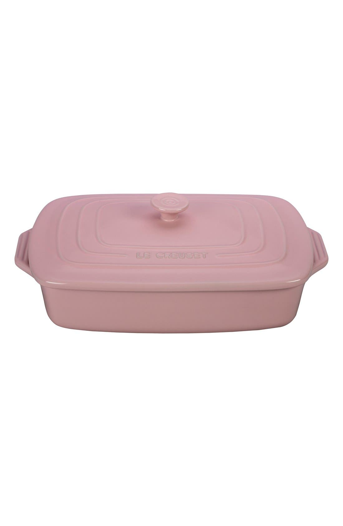Le Creuset 3 1/2 Quart Covered Rectangular Stoneware Casserole