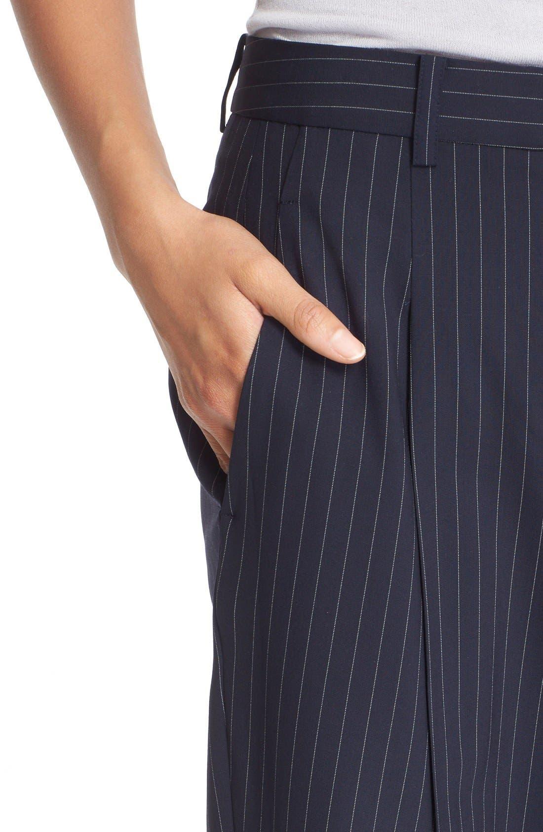 Alternate Image 5  - DKNY Pinstripe Cuff Pants