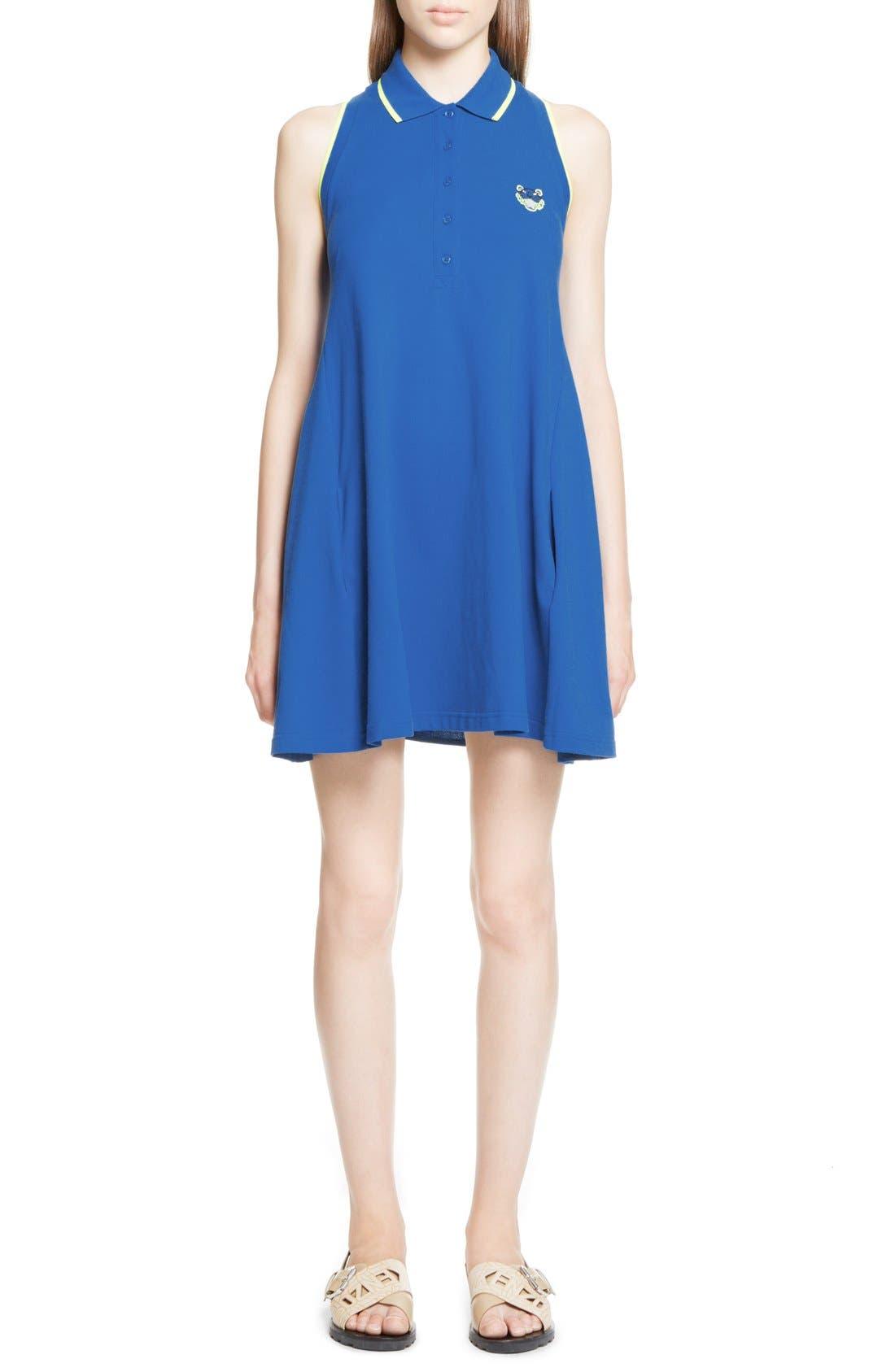Main Image - KENZO Sleeveless Cotton Polo Dress