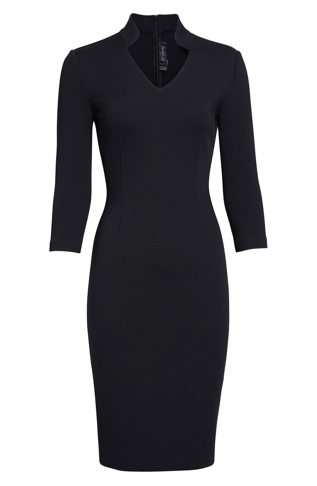 Alternate Image 4  - St. John Collection Luxe Sculpture Knit Sheath Dress