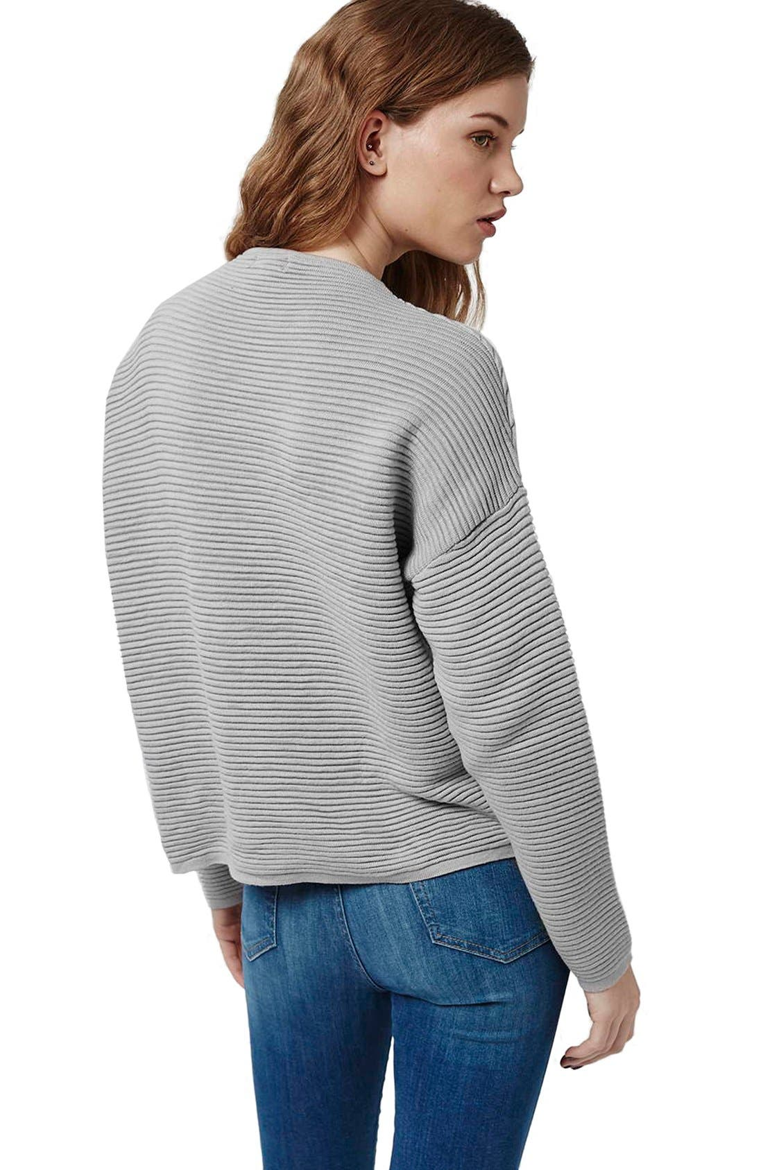Alternate Image 4  - Topshop Ribbed Pullover Sweater